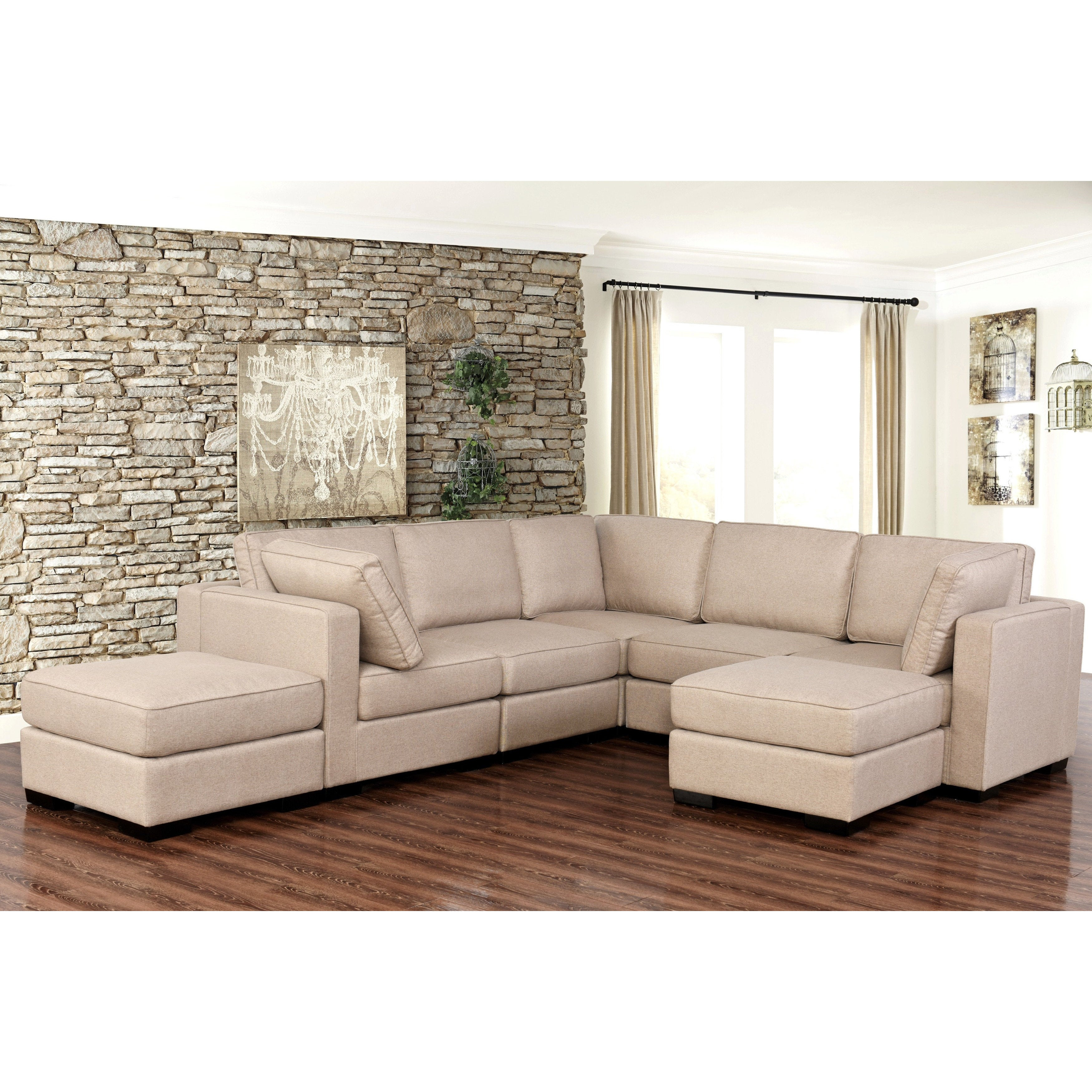 Incroyable Shop Abbyson Harper Fabric Modular 7 Piece Sectional   Free Shipping Today    Overstock.com   14458115