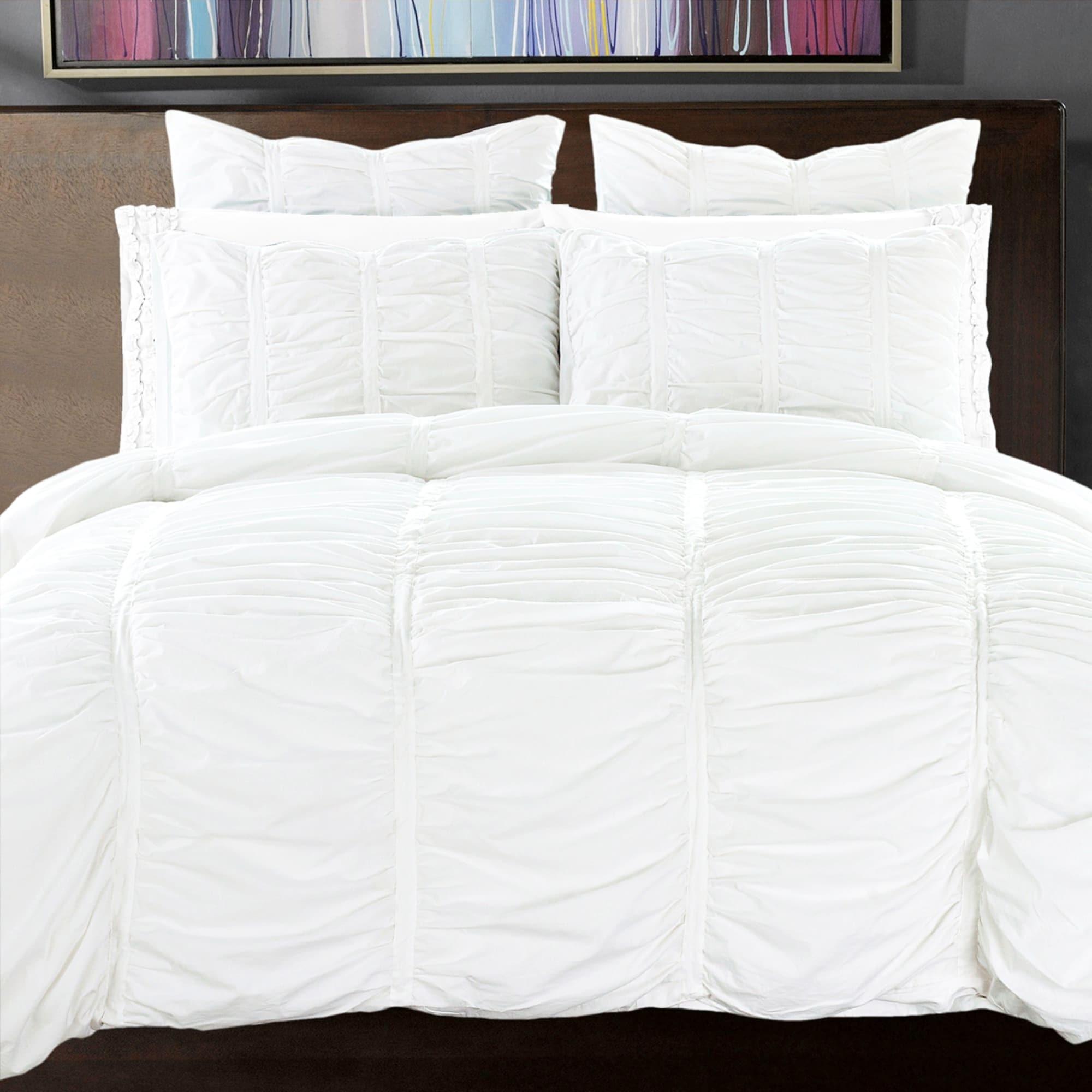 Ordinaire California Design Den Cotton Ruffled Handcrafted Duvet Cover Set