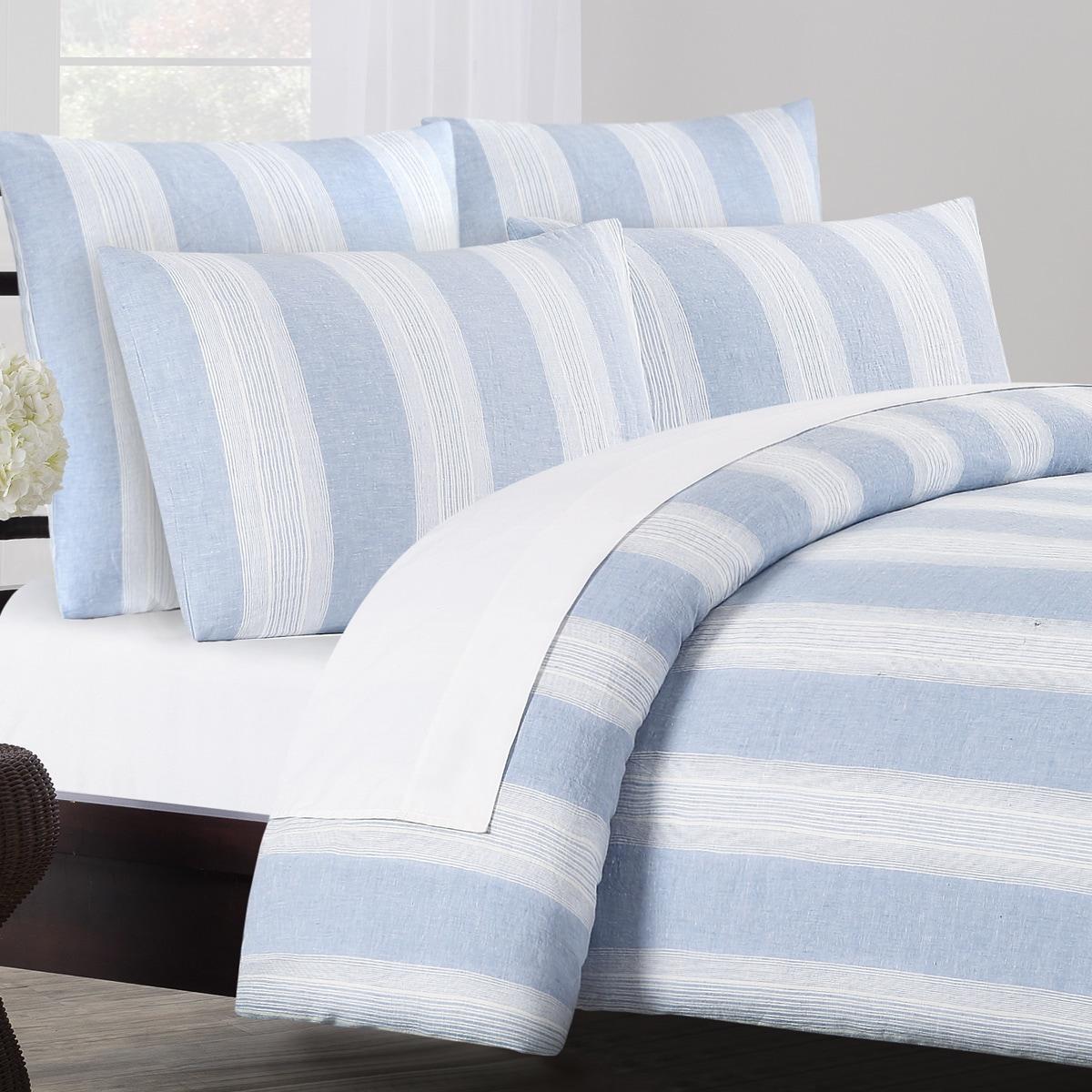 Vintage Stripe Washed Belgian Linen Duvet Cover Set On Free Shipping Today 14458184