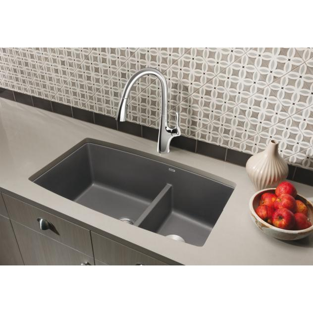 Blanco Performa Undermount Metallic Grey Granite Kitchen Sink Free Shipping Today 14458287