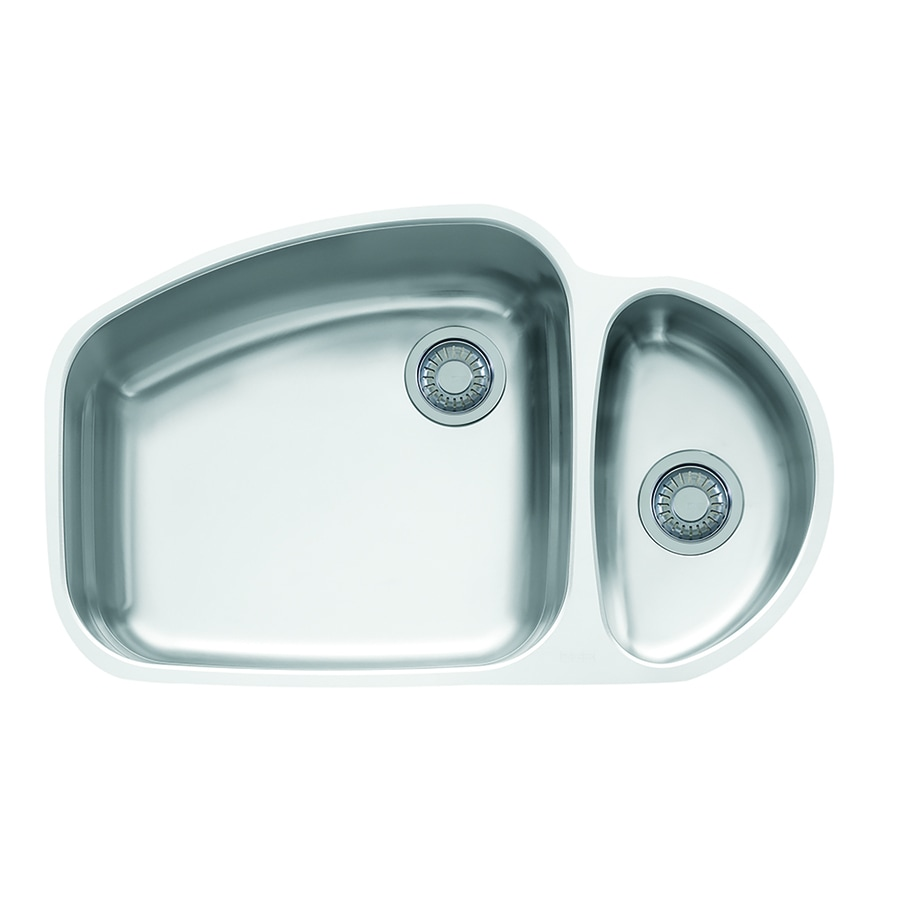 Shop Franke Vision Undermount Steel Kitchen Sink VNX160 Stainless ...