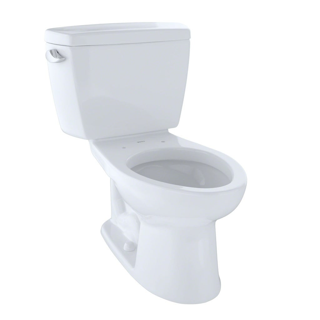 Toto Drake Two-Piece Elongated 1.6 GPF Toilet with Insulated Tank ...