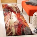 Safavieh Glacier Contemporary Abstract Red/ Multi Area Rug Runner (2' 2 x 8')