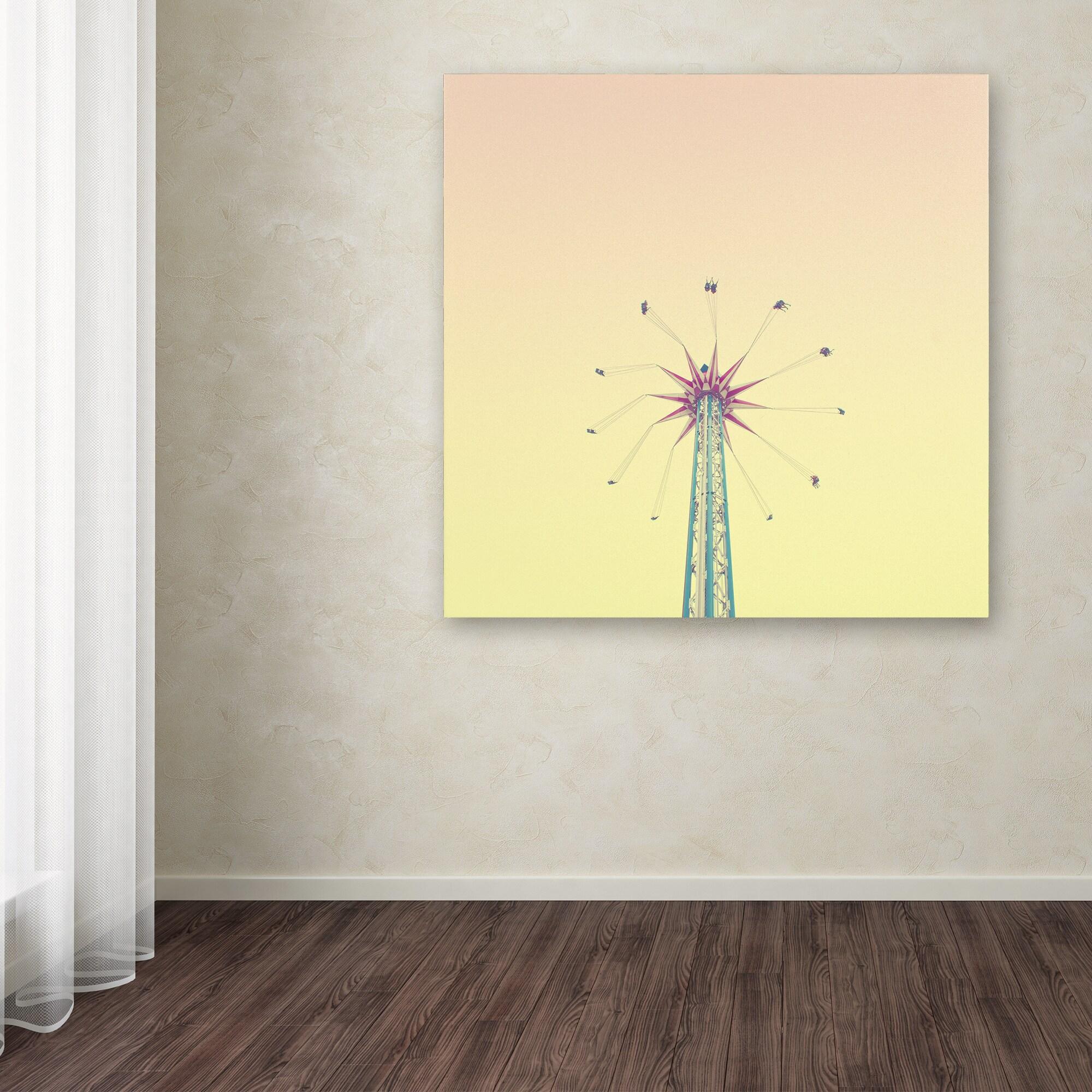 Matt Crump \'Candy Swing\' Canvas Art - Blue - Free Shipping On Orders ...