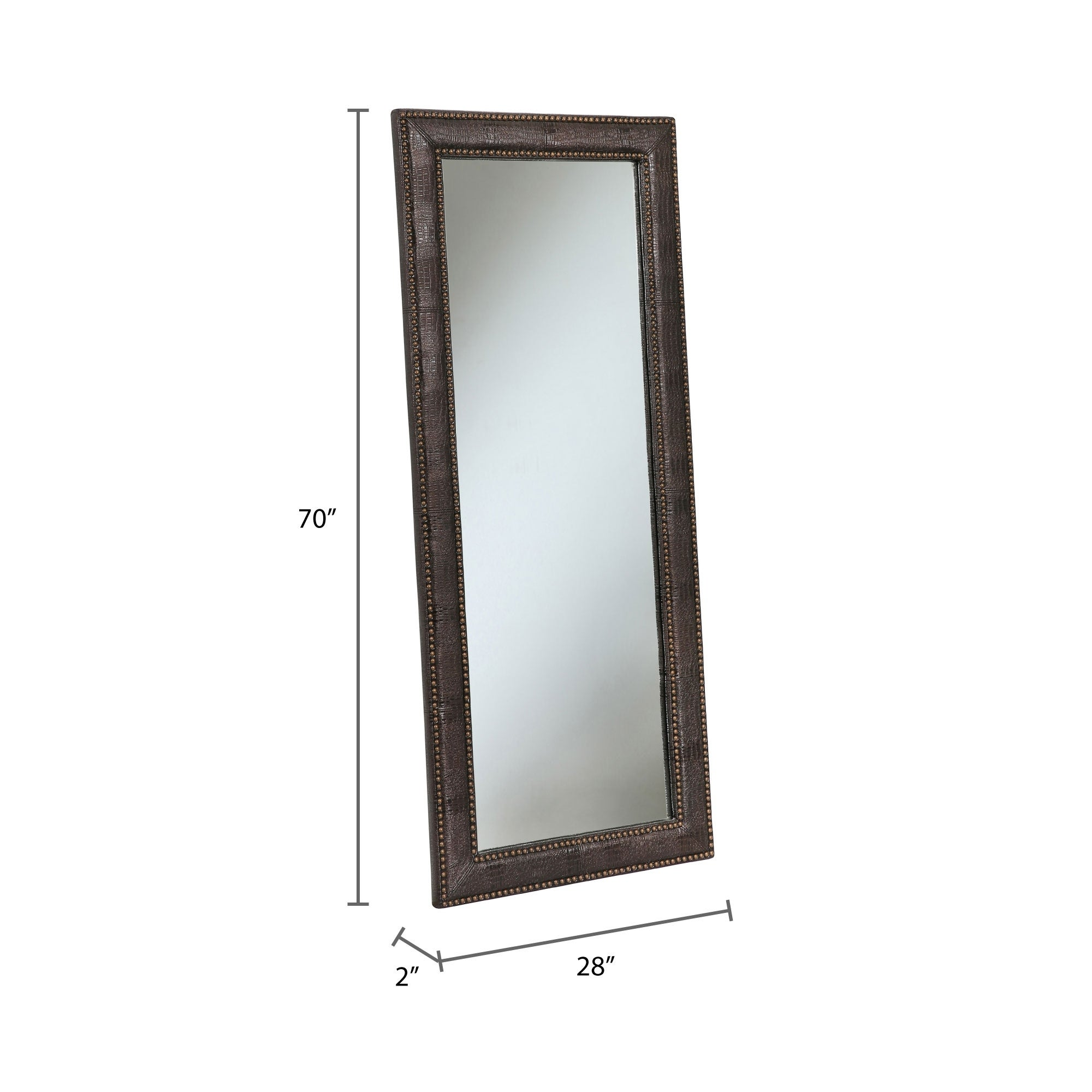 70 inch mirror double vanity shop abbyson delano leather 70inch floor mirror on sale free shipping today overstockcom 14463401