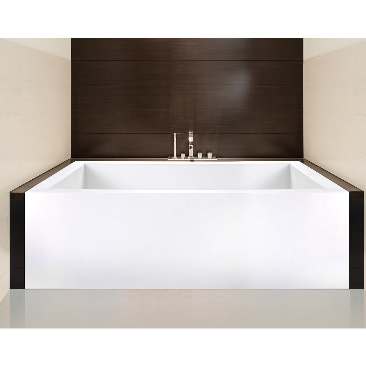 Shop Clarke Sparta Matte White Skirted Soaking Bathtub - Ships To ...