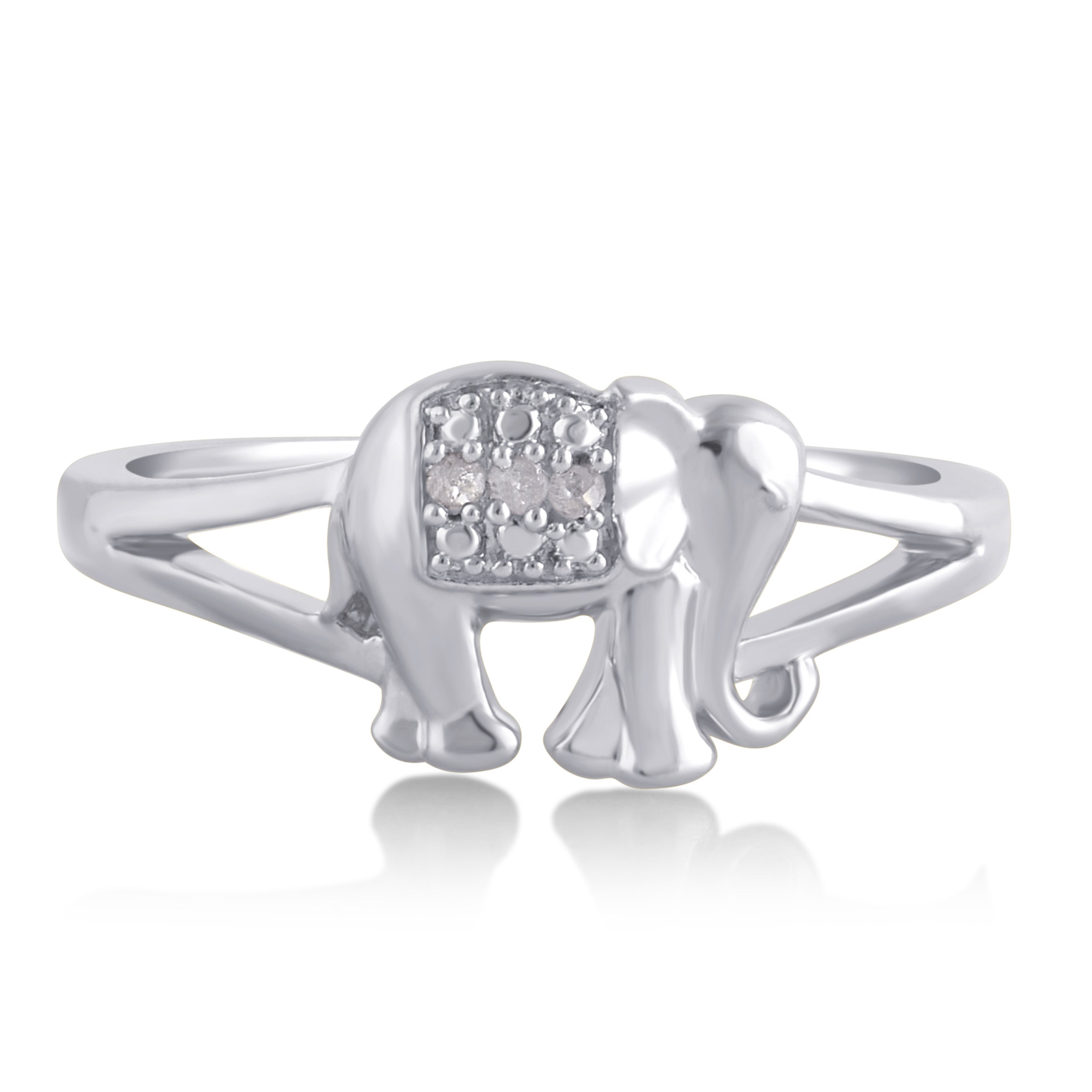bling elephant antiqued double sstr rings ring elephants animal engagement silver sterling lucky jewelry