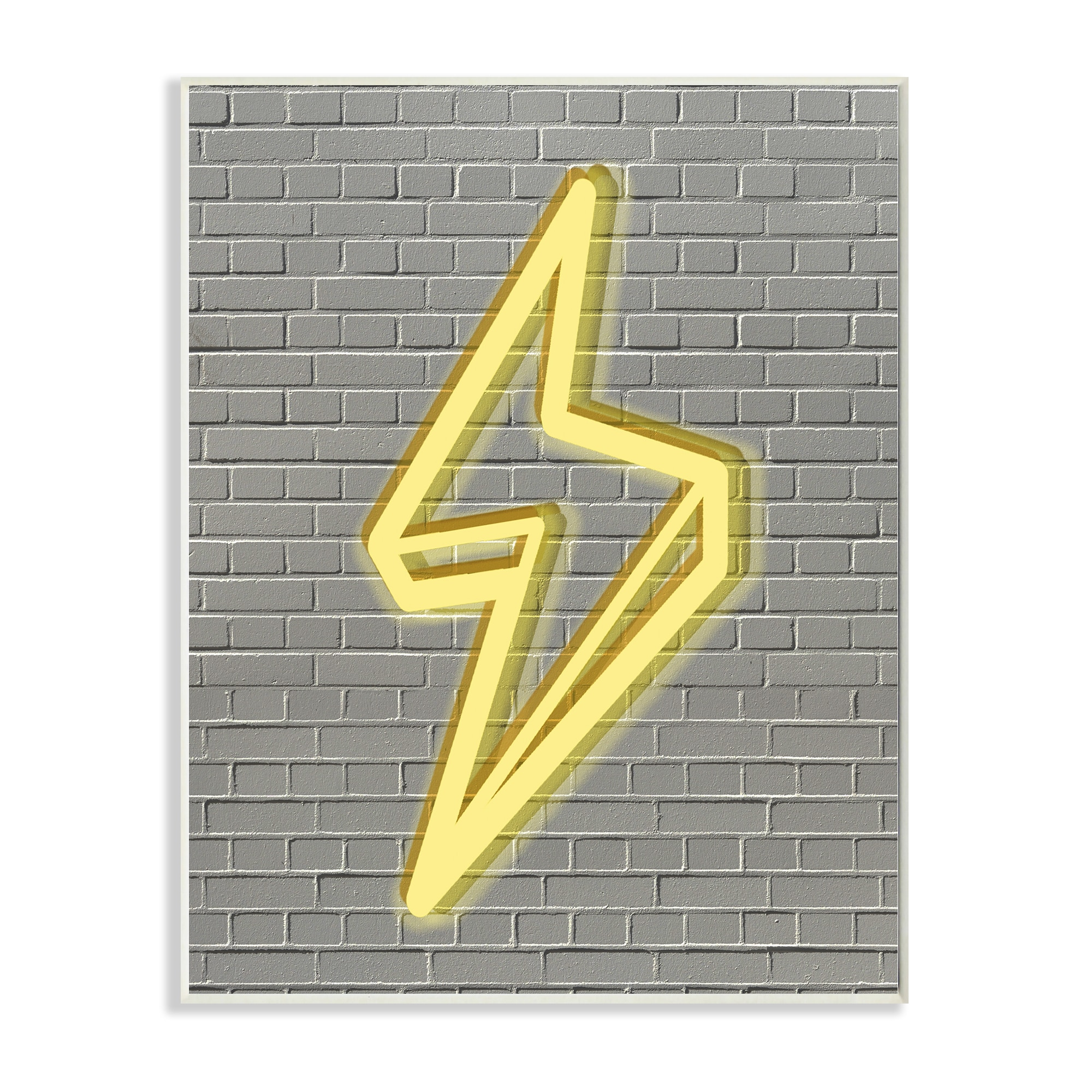 Neon Lightning with Brick Background\' Wall Plaque Art - 10 x 15 ...