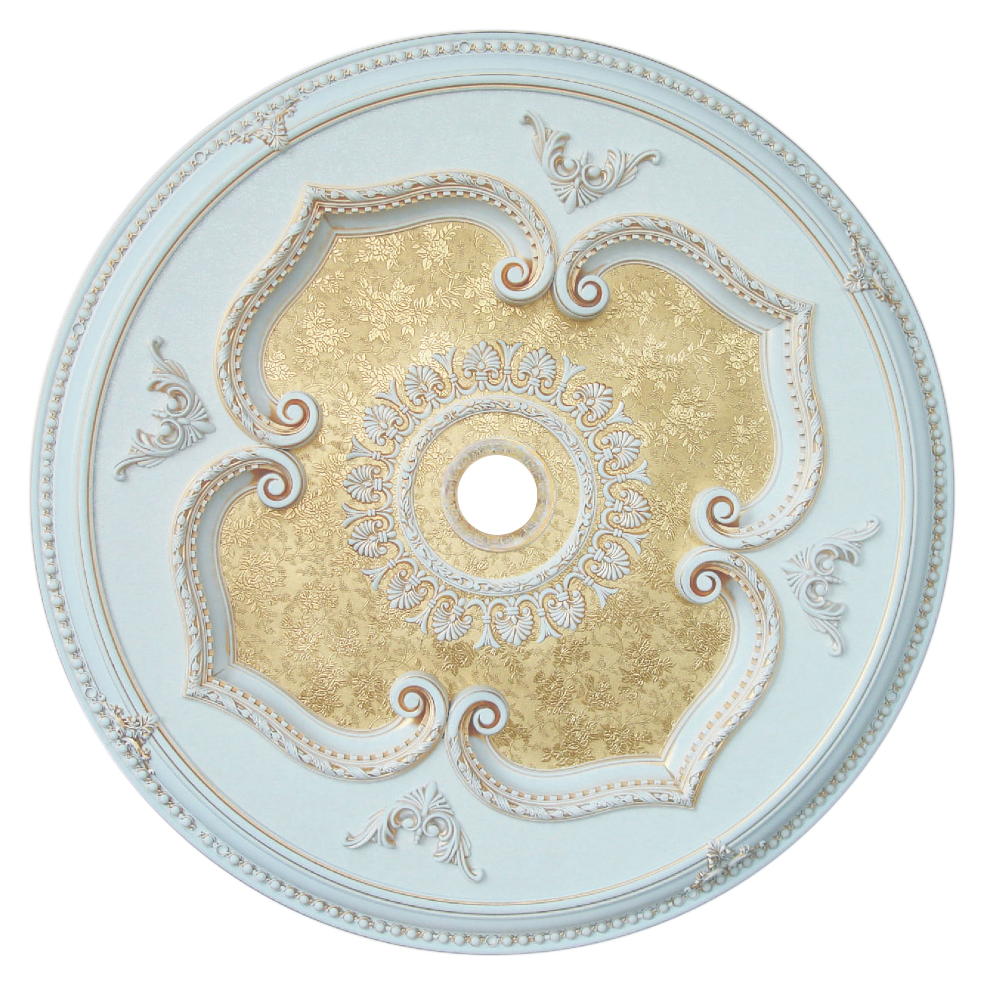 ART11-F1-089 Floral Victorian 43-inch Round Ceiling Medallion - Free ...