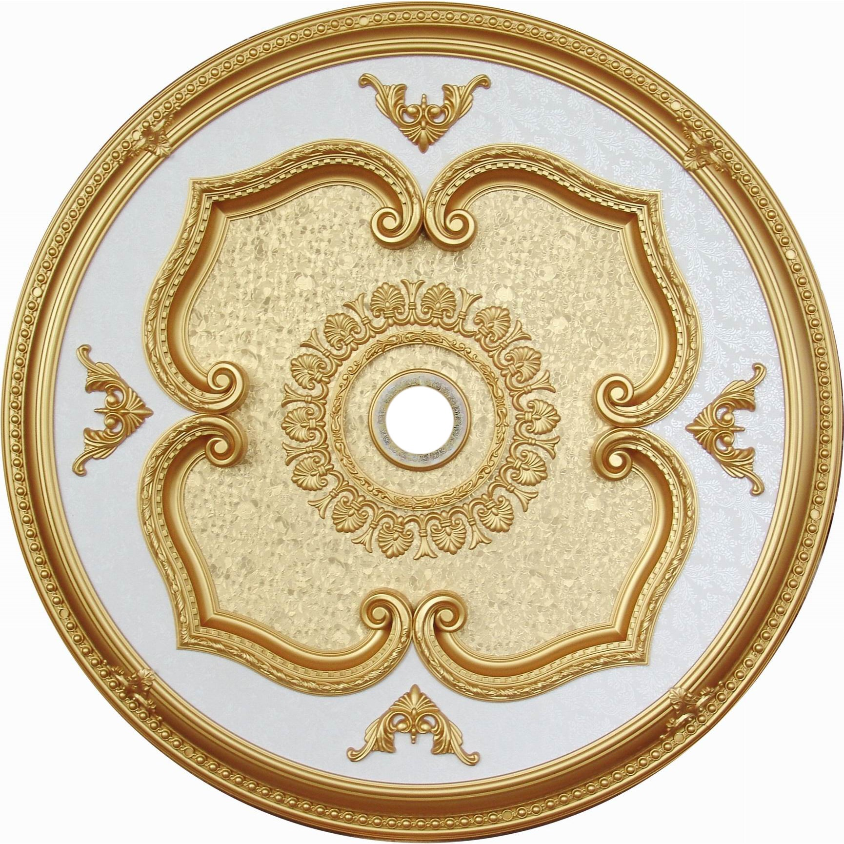 Shop ART11-F-076 Floral Victorian 43-inch Round Ceiling Medallion ...