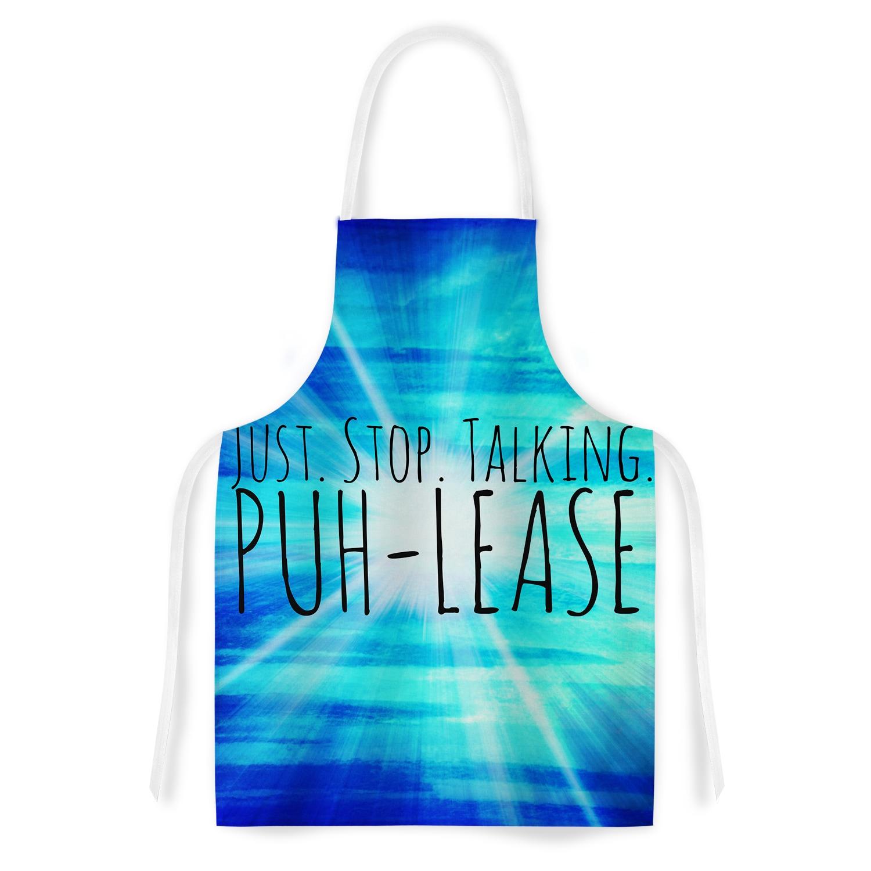 Shop Kess InHouse Ebi Emporium \'Puh-lease\' Blue Aqua Artistic Apron ...