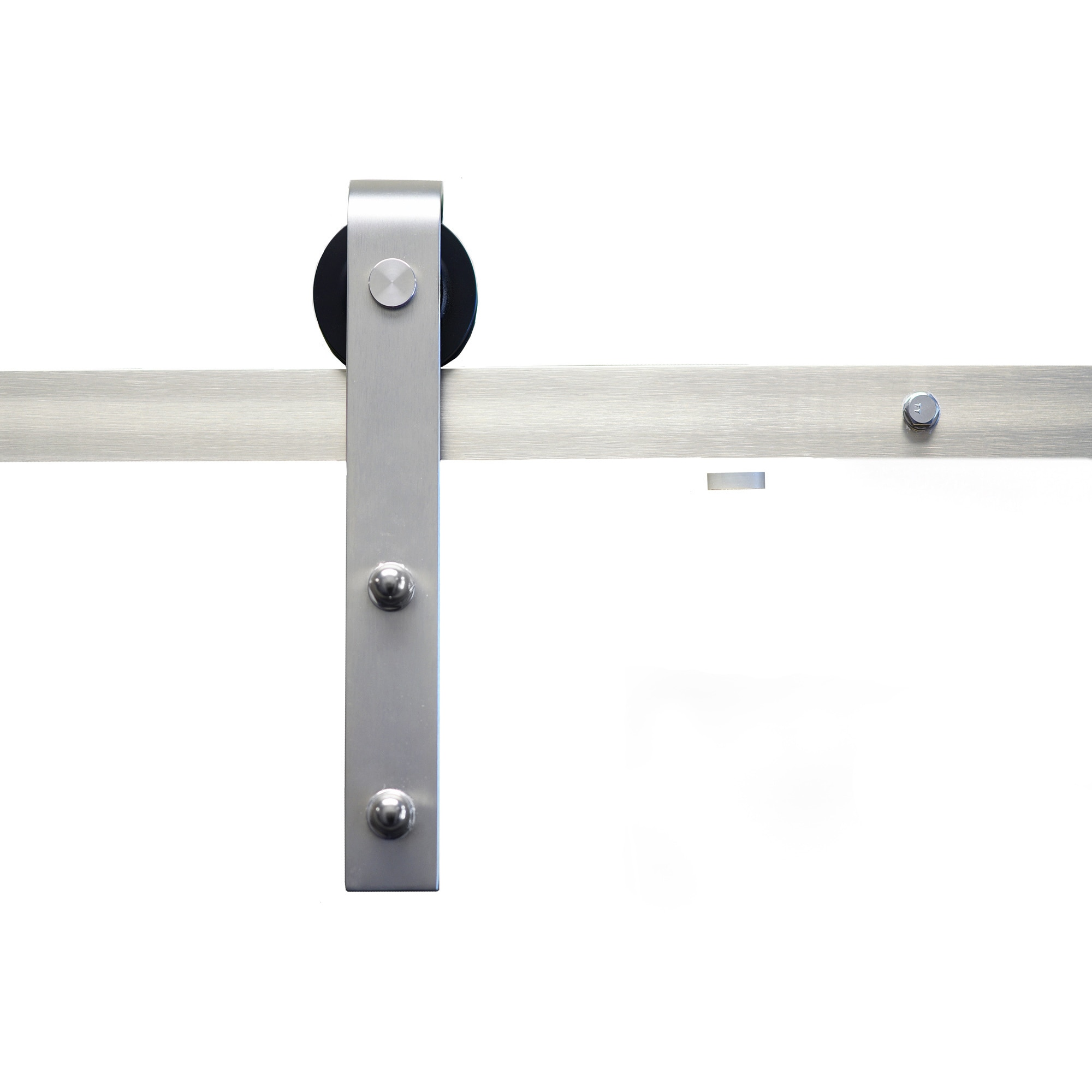 Sure Loc Satin Nickel Barn Door Hardware Kit   Free Shipping On Orders Over  $45   Overstock.com   21049332