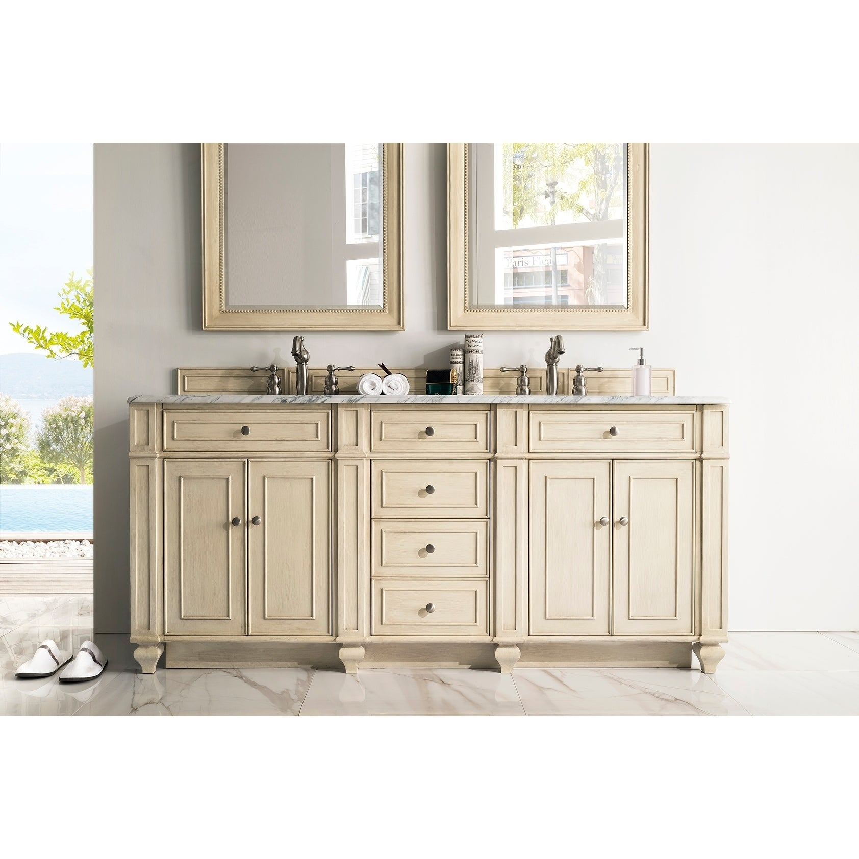 vessel sink inch vanity set bathroom contemporary rectangular white double with mirror