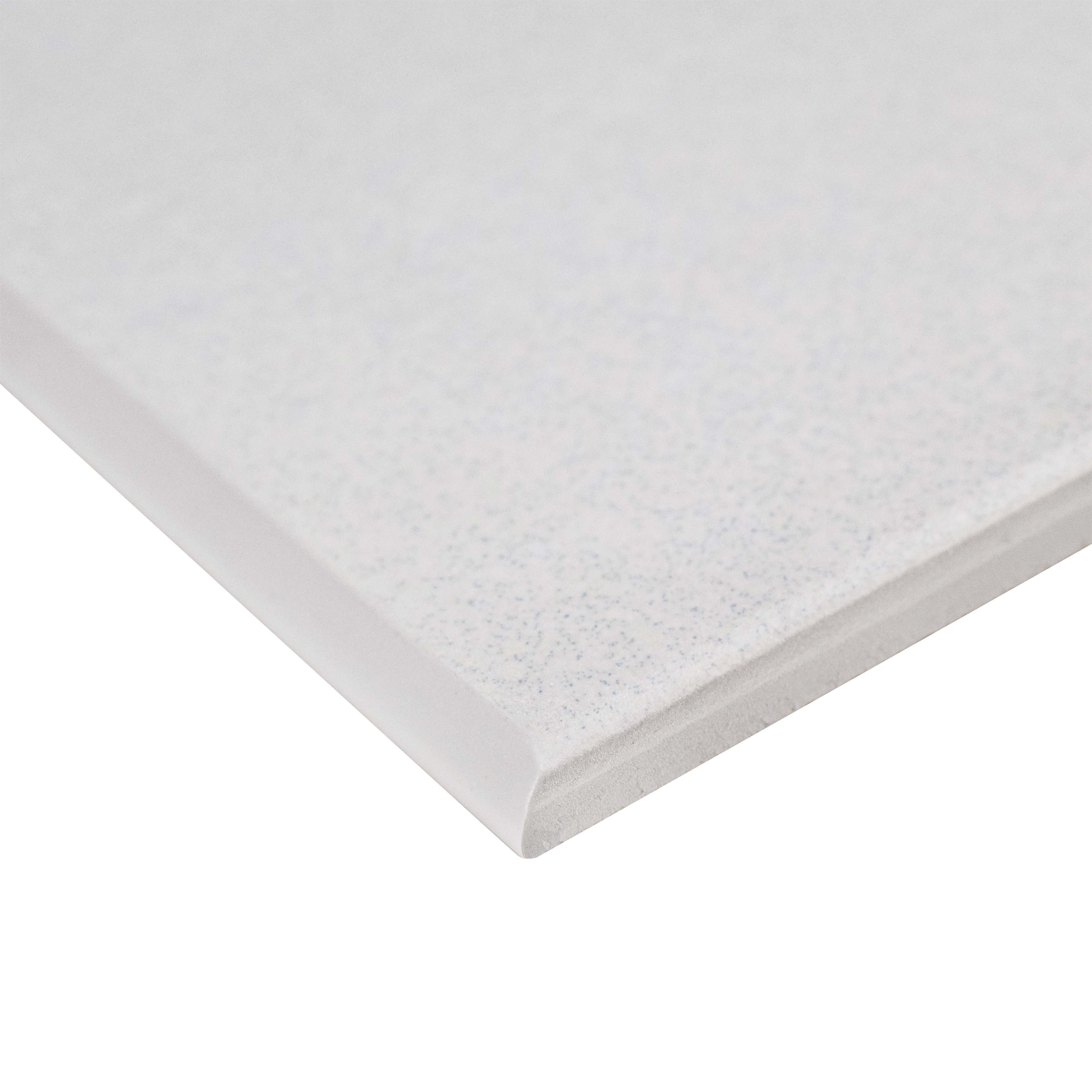 Somertile 3 5x7 75 Inch Thirties White Ceramic Bullnose Floor And Wall Trim Tile 5 Tiles Free Shipping On Orders Over 45