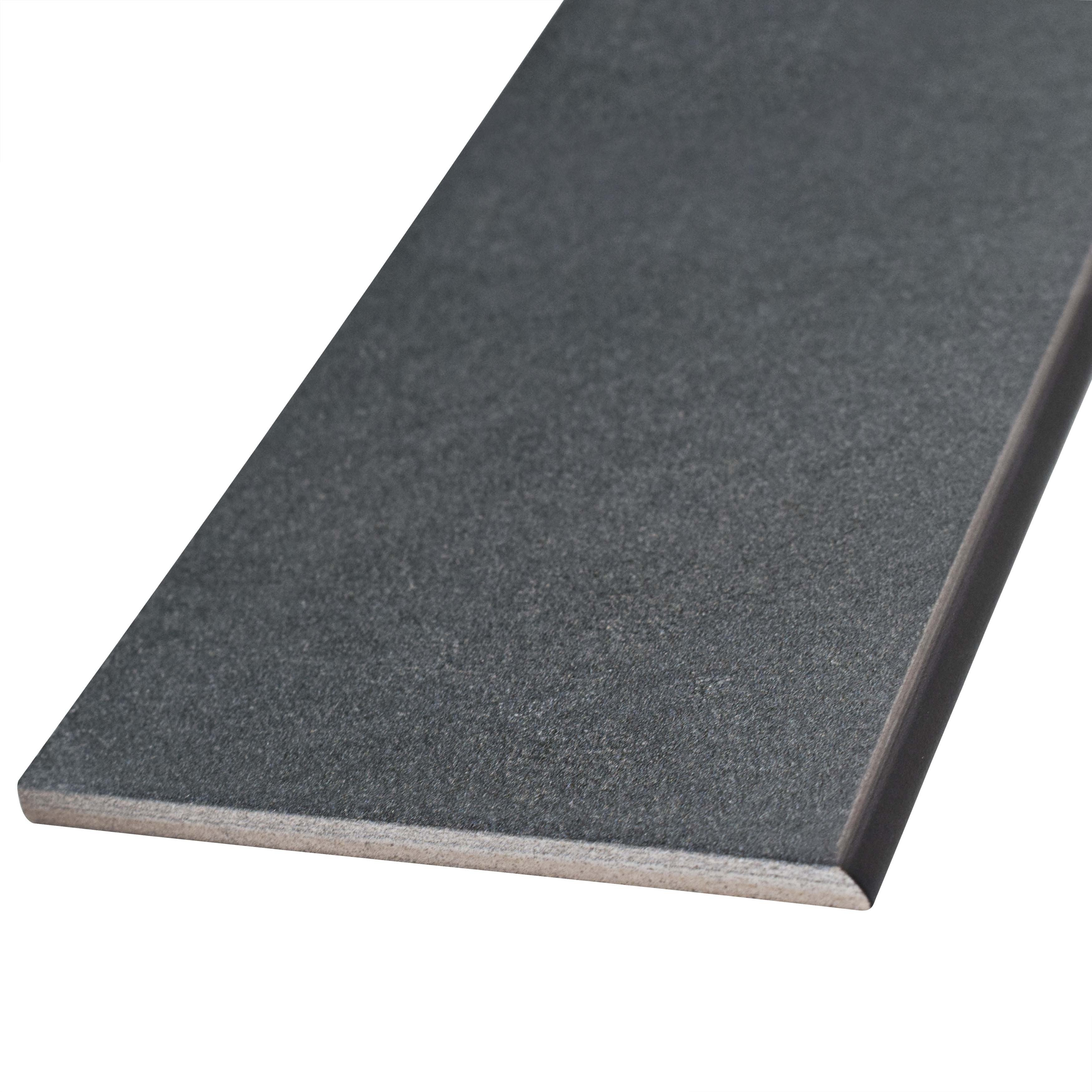Somertile 35x775 inch thirties black ceramic bullnose floor and somertile 35x775 inch thirties black ceramic bullnose floor and wall trim tile 5 tiles free shipping on orders over 45 overstock 21049692 dailygadgetfo Choice Image
