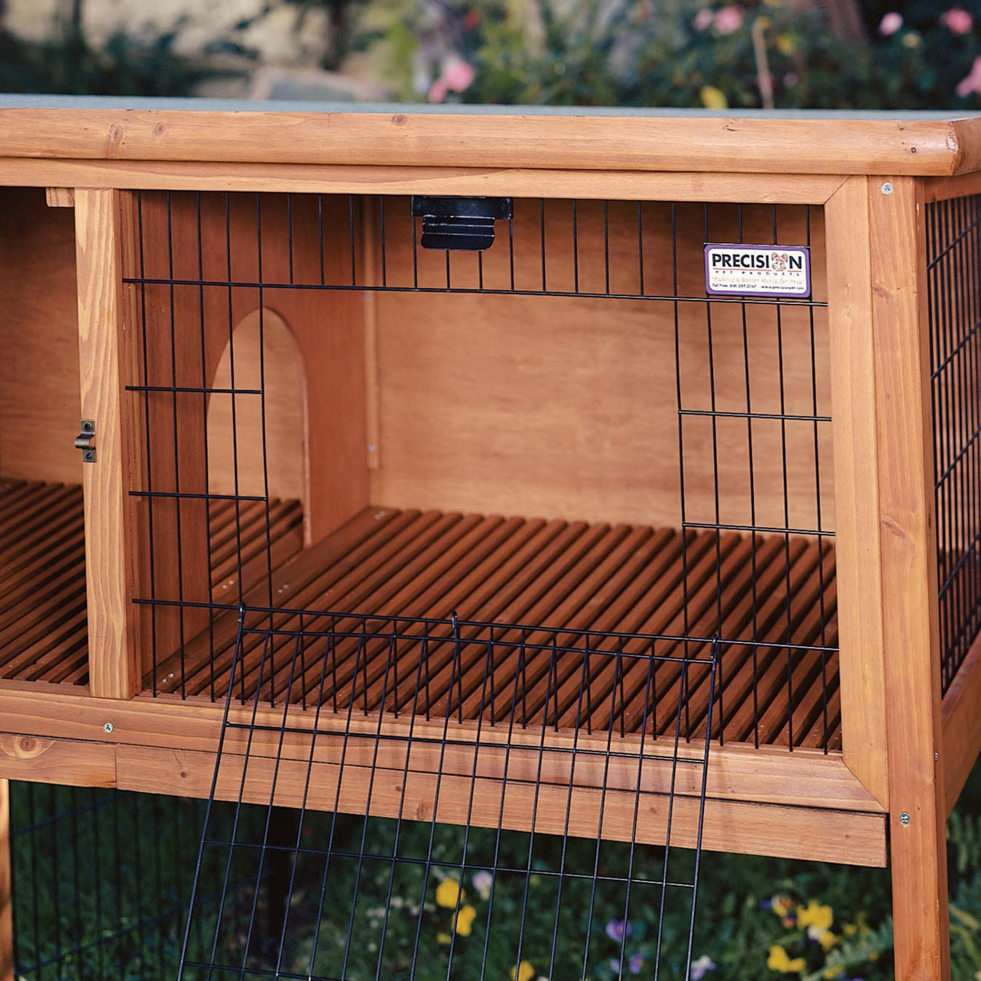 story rabbit multiple solid for rabbits diy pin hutch three wooden homemade wood