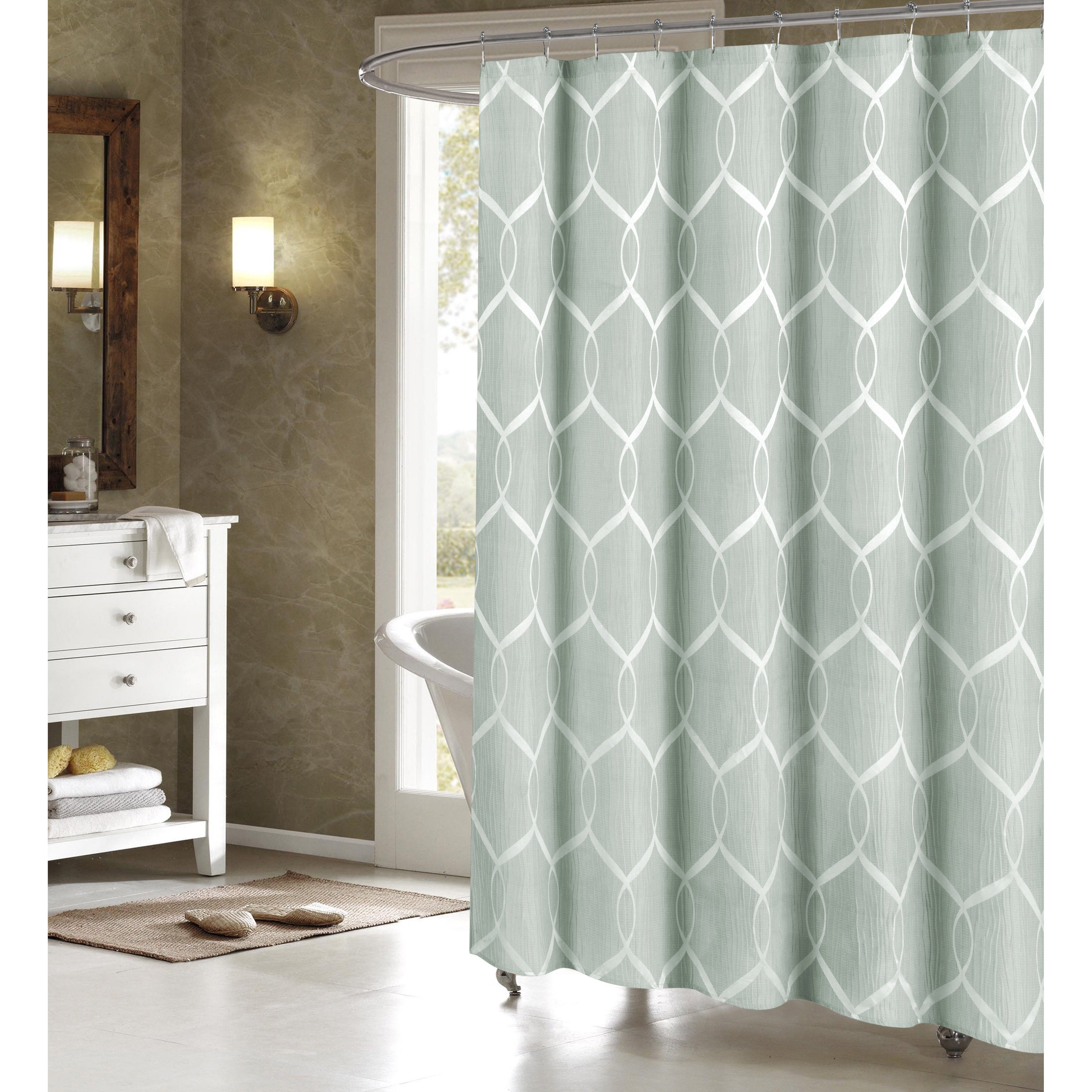 Shop Quey Wrinkle Wave Fabric Shower Curtain