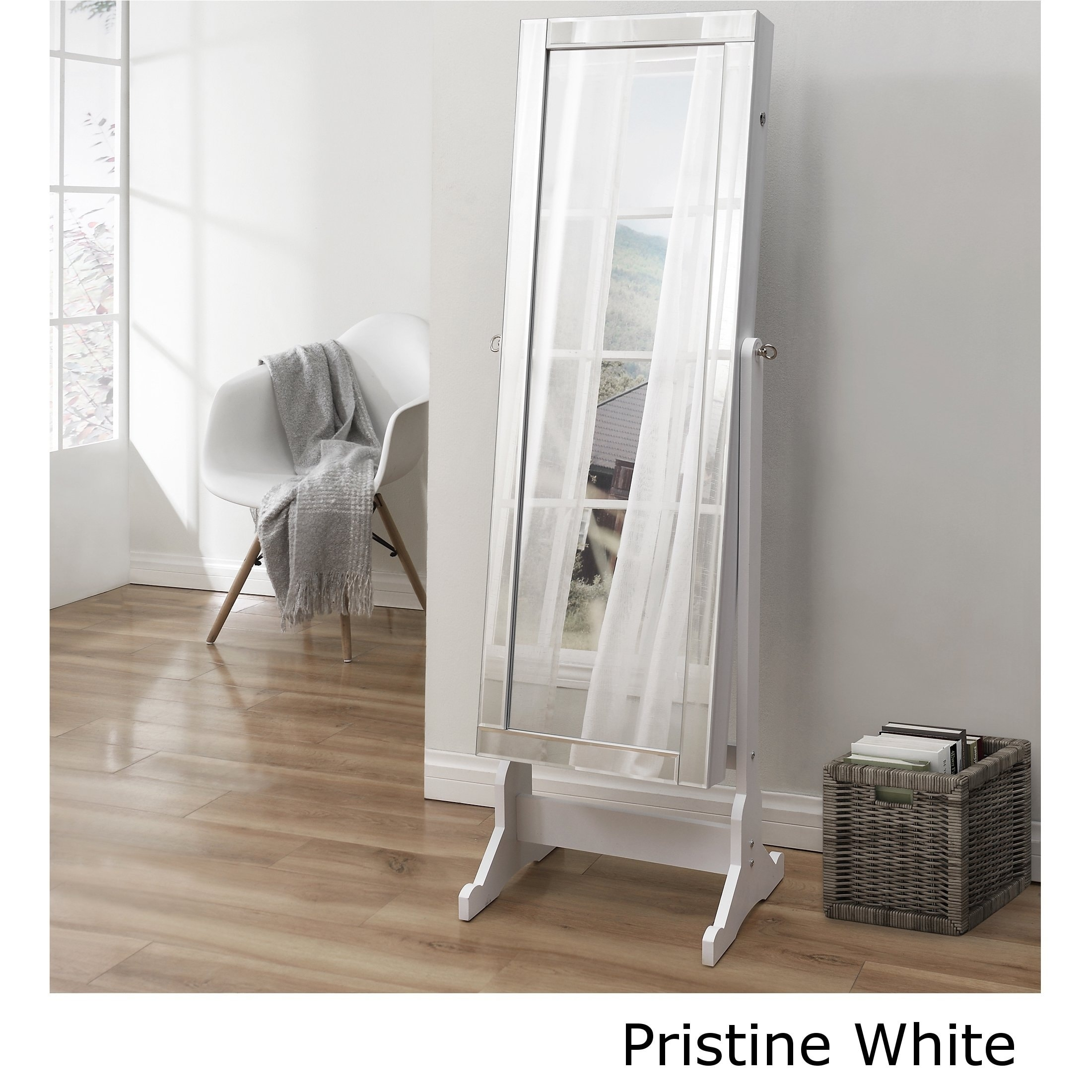 Shimmer Cheval Full Length Mirror Jewelry Armoire