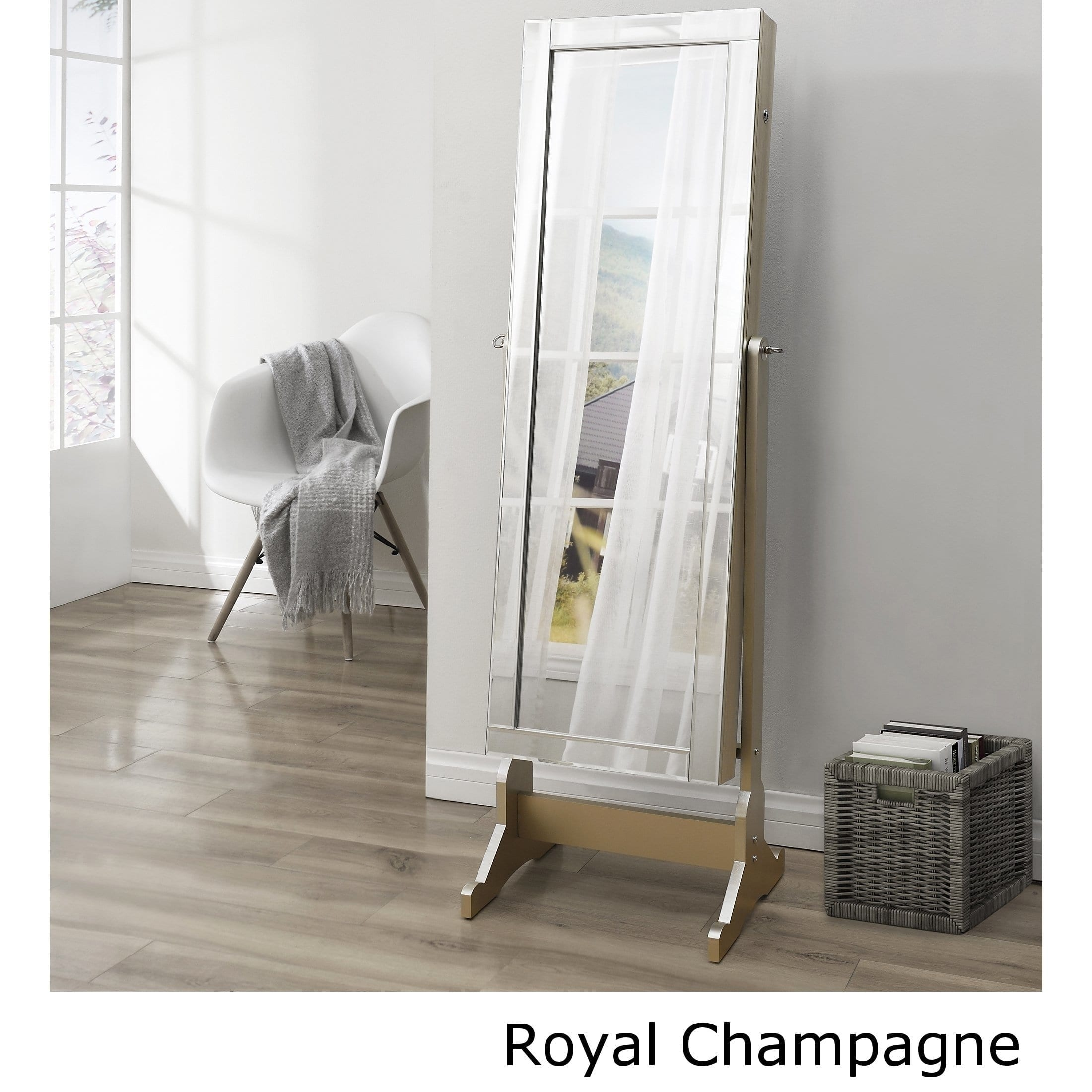 Full lenght mirror Modern Shimmer Cheval Fulllength Mirror Jewelry Armoire Overstock Shop Shimmer Cheval Fulllength Mirror Jewelry Armoire On Sale