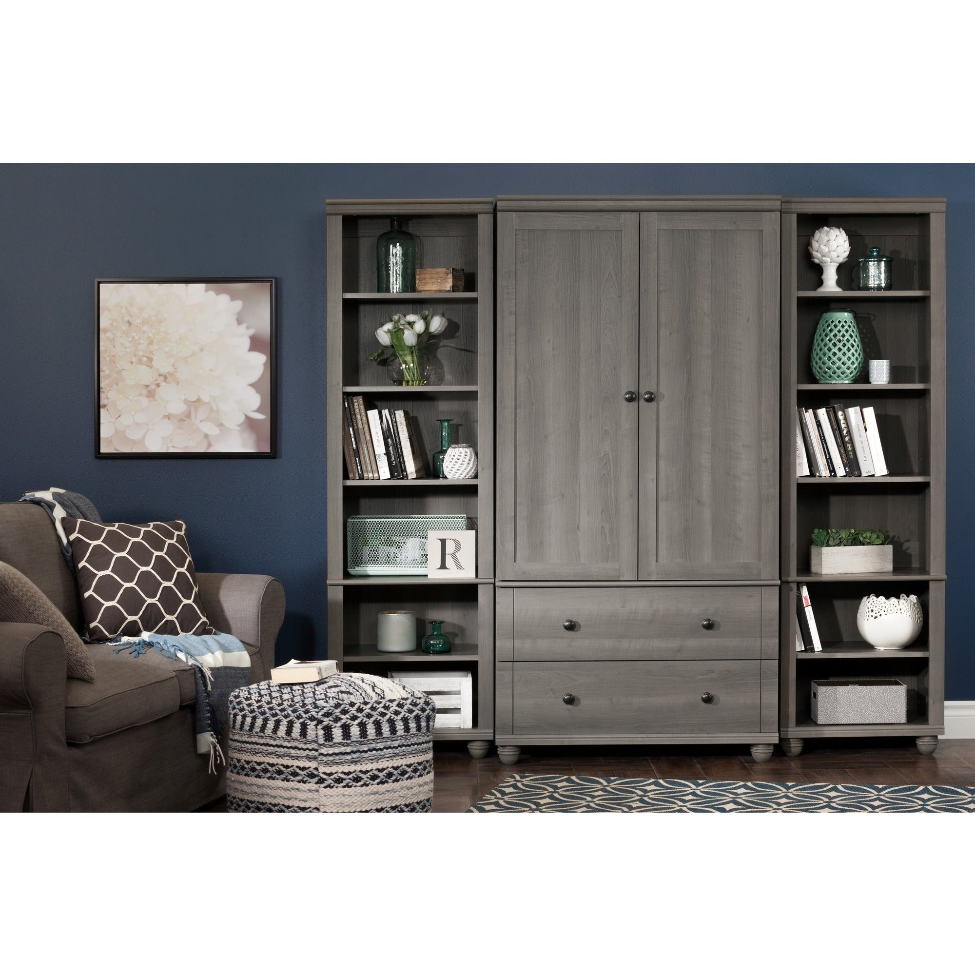 sauder room armoire livings hills orchard living products