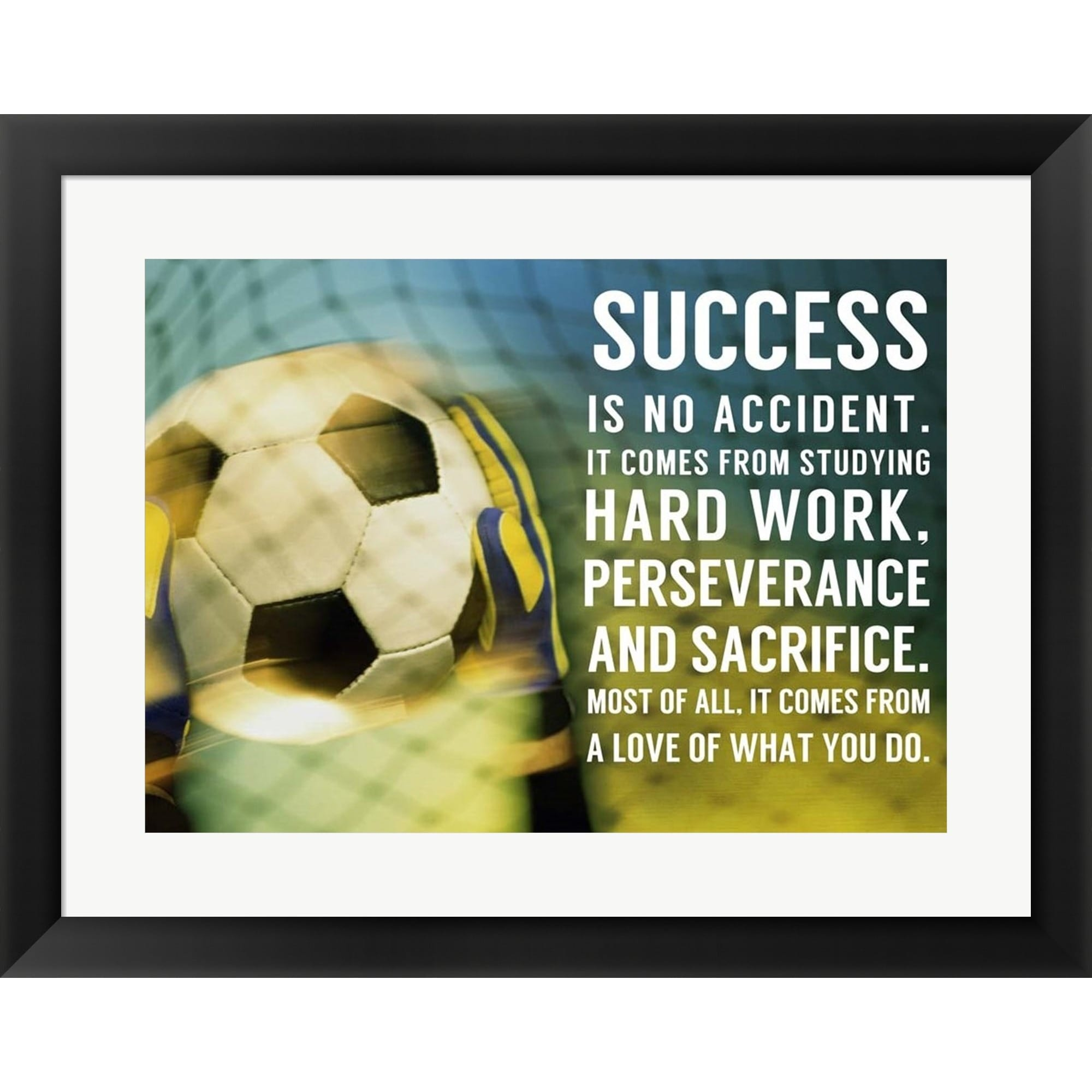 Shop Sports Mania \'Success - soccer quote\' Framed Wall Art - Multi ...