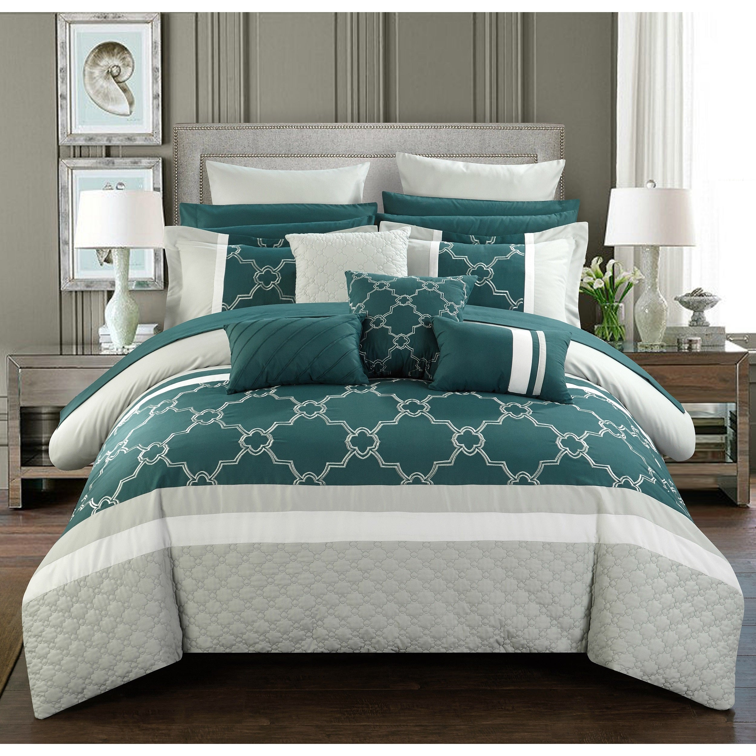 Chic Home 16 Piece Casper King Bed In A Bag Comforter Set On Free Shipping Today 14506342