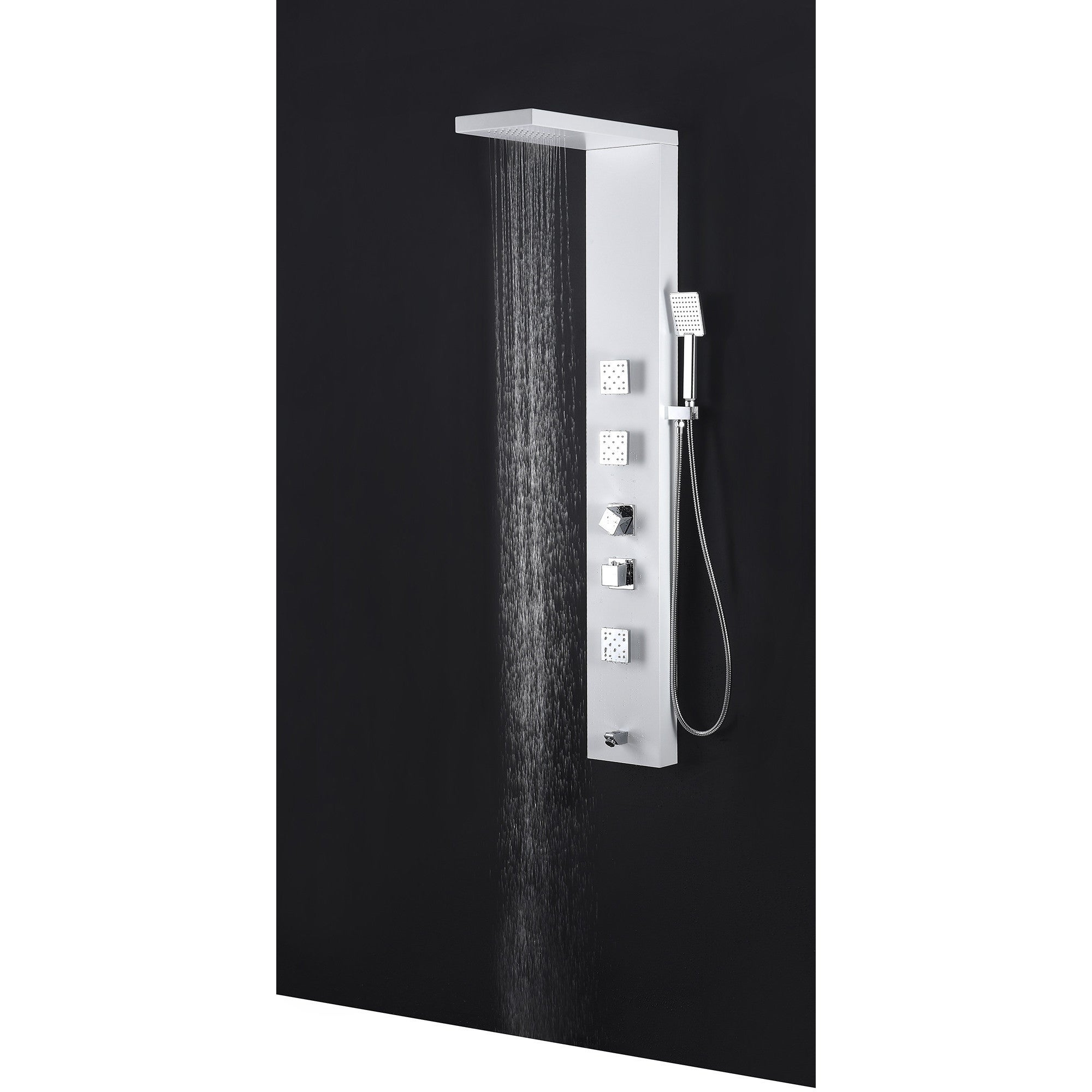 Shop Delta Series 56 In Full Body Shower Panel System With Heavy Of Electrical Panels Understanding The Relationship Star Rain And Spray Wand White Free Shipping Today 14506691