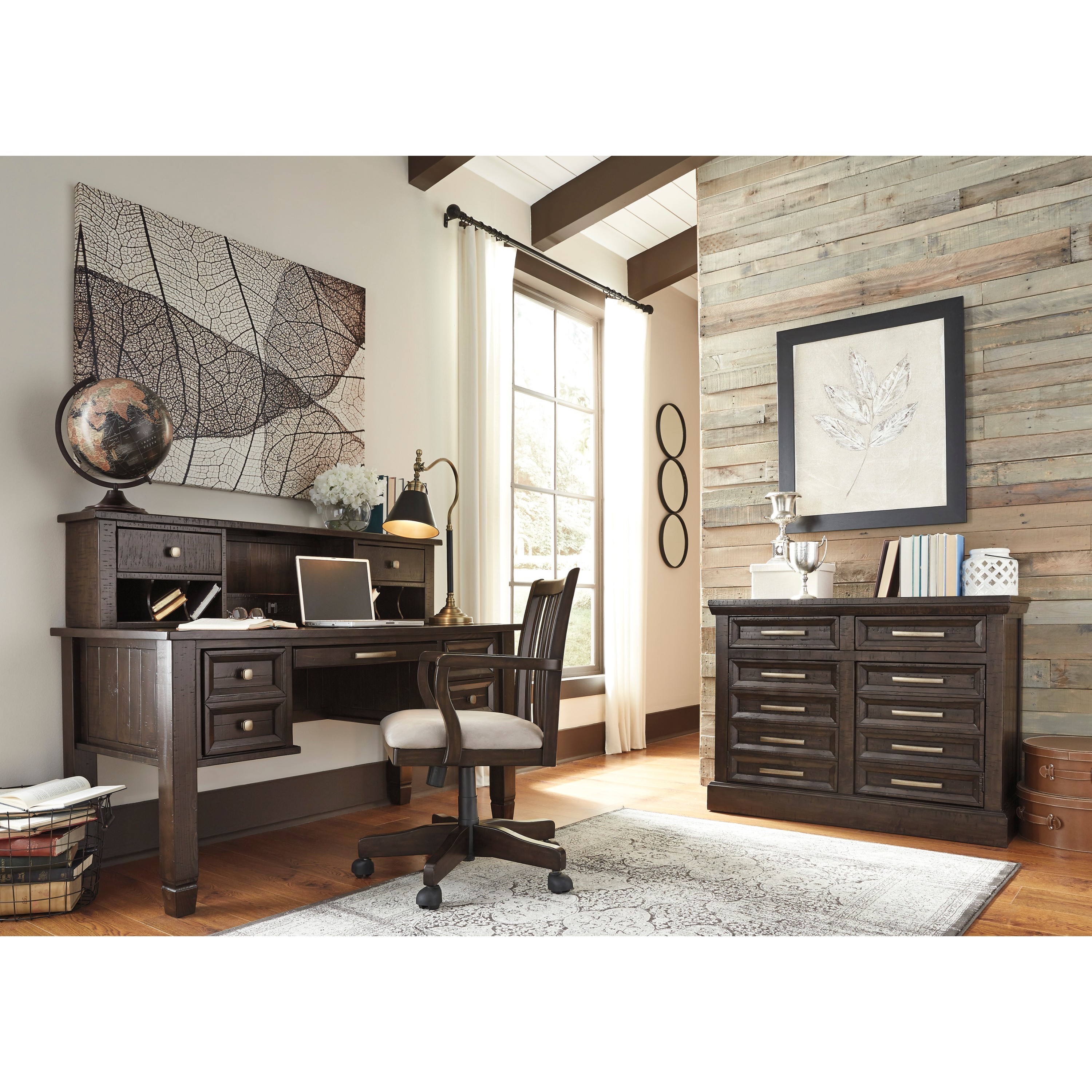 grey home office. Signature Design By Ashley Townser Grey Home Office Desk - Free Shipping Today Overstock 21062909