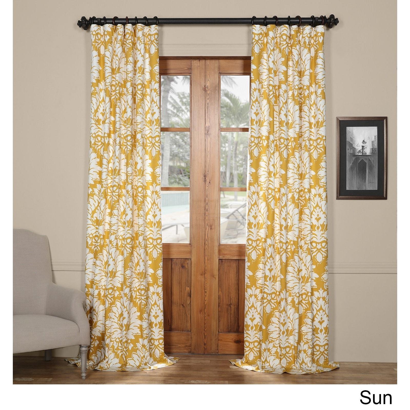 Shop Exclusive Fabrics Lacuna Cotton Printed Curtain Panel - On Sale ...
