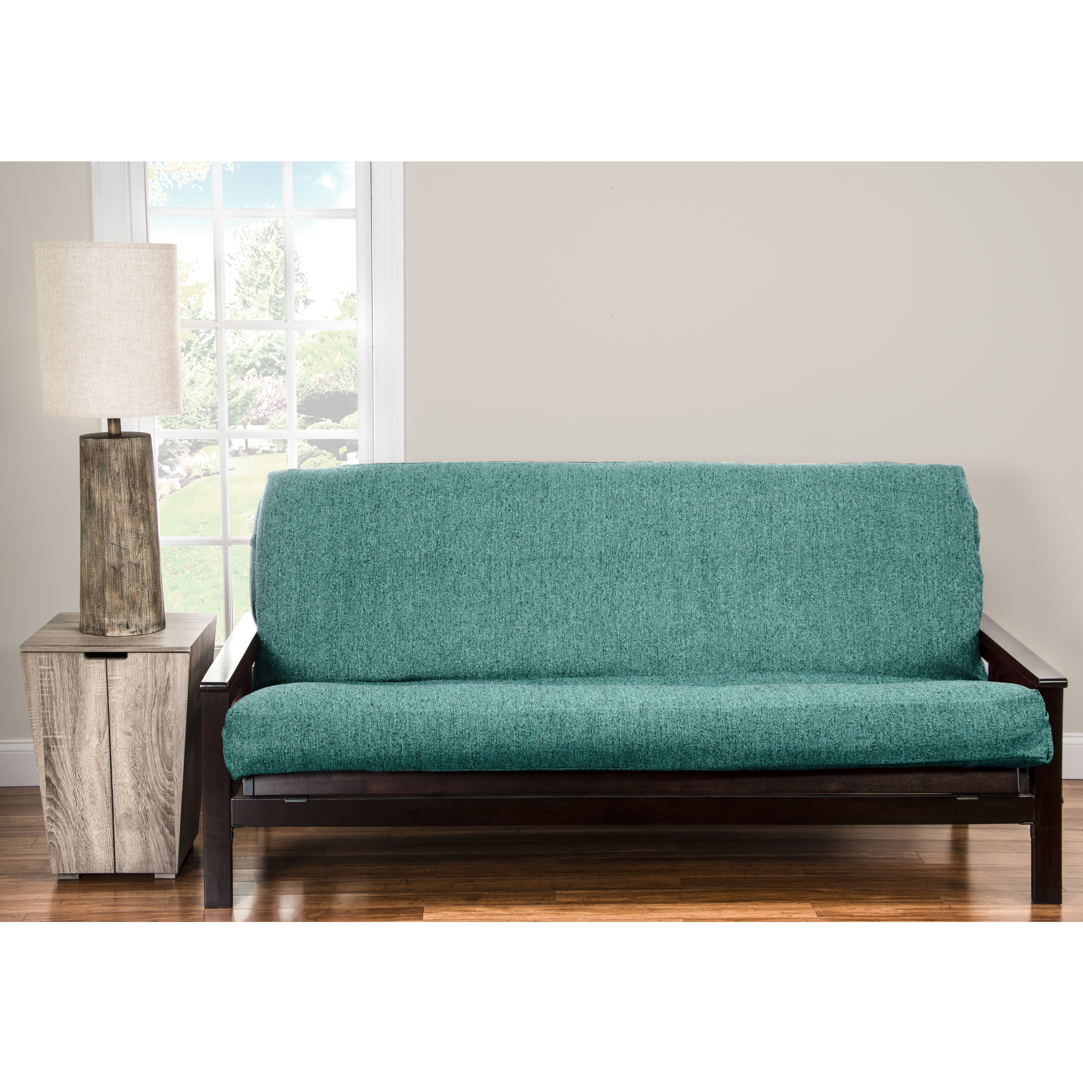 Pologear Belmont Turquoise Homespun Futon Cover Turqoise On Free Shipping Today Com 14513611