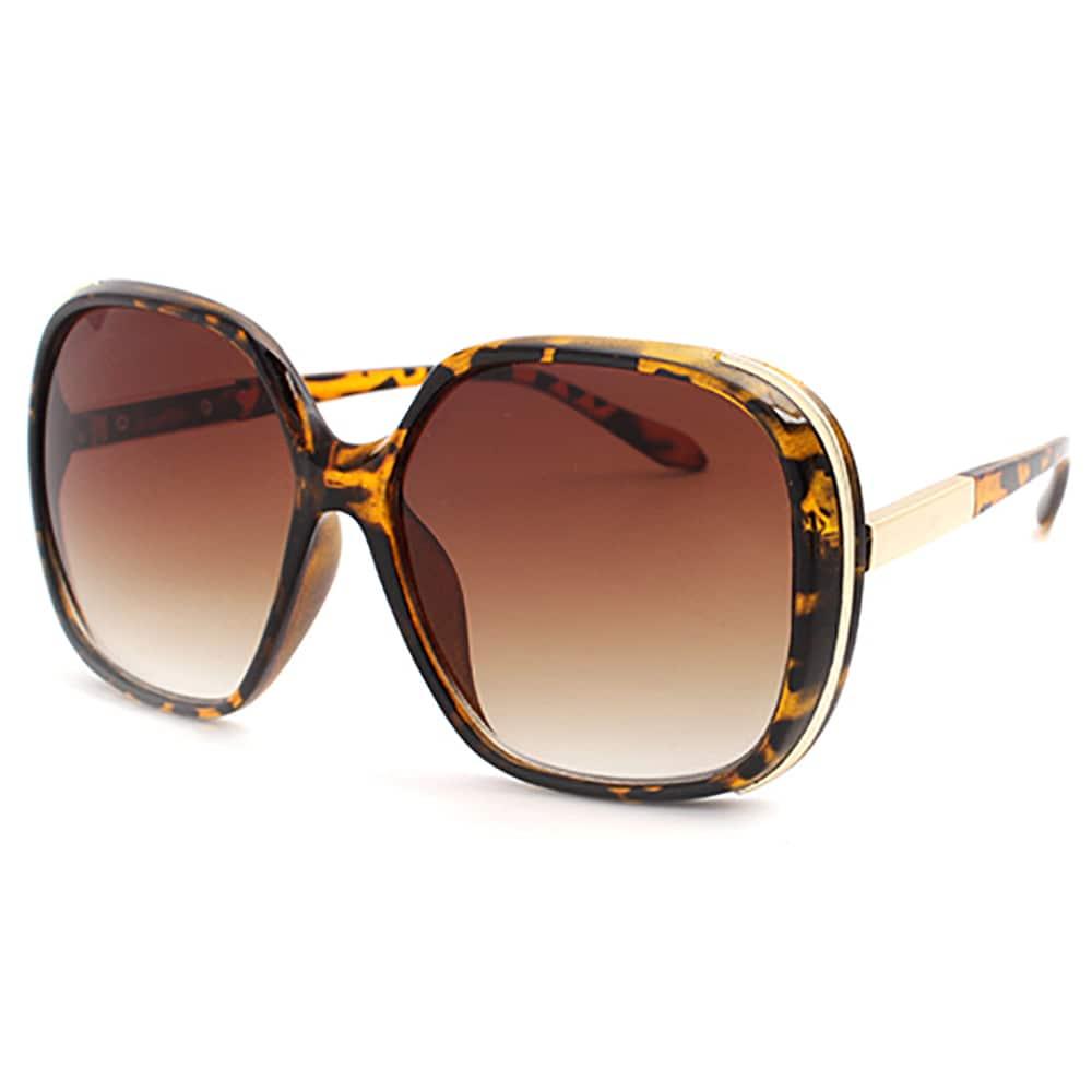 d6871da394cdd Shop Pop Fashionwear P4004 Women s Tortoise-shell Oversized Polarized  Sunglasses - Free Shipping On Orders Over  45 - Overstock - 14514690