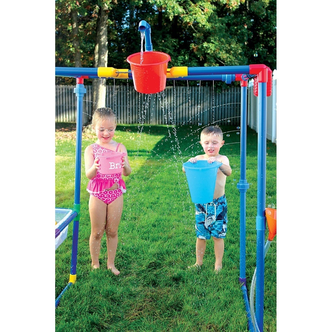 Buckets Of Fun 6-in-1 Backyard Waterpark - Free Shipping Today -  Overstock.com - 21071715