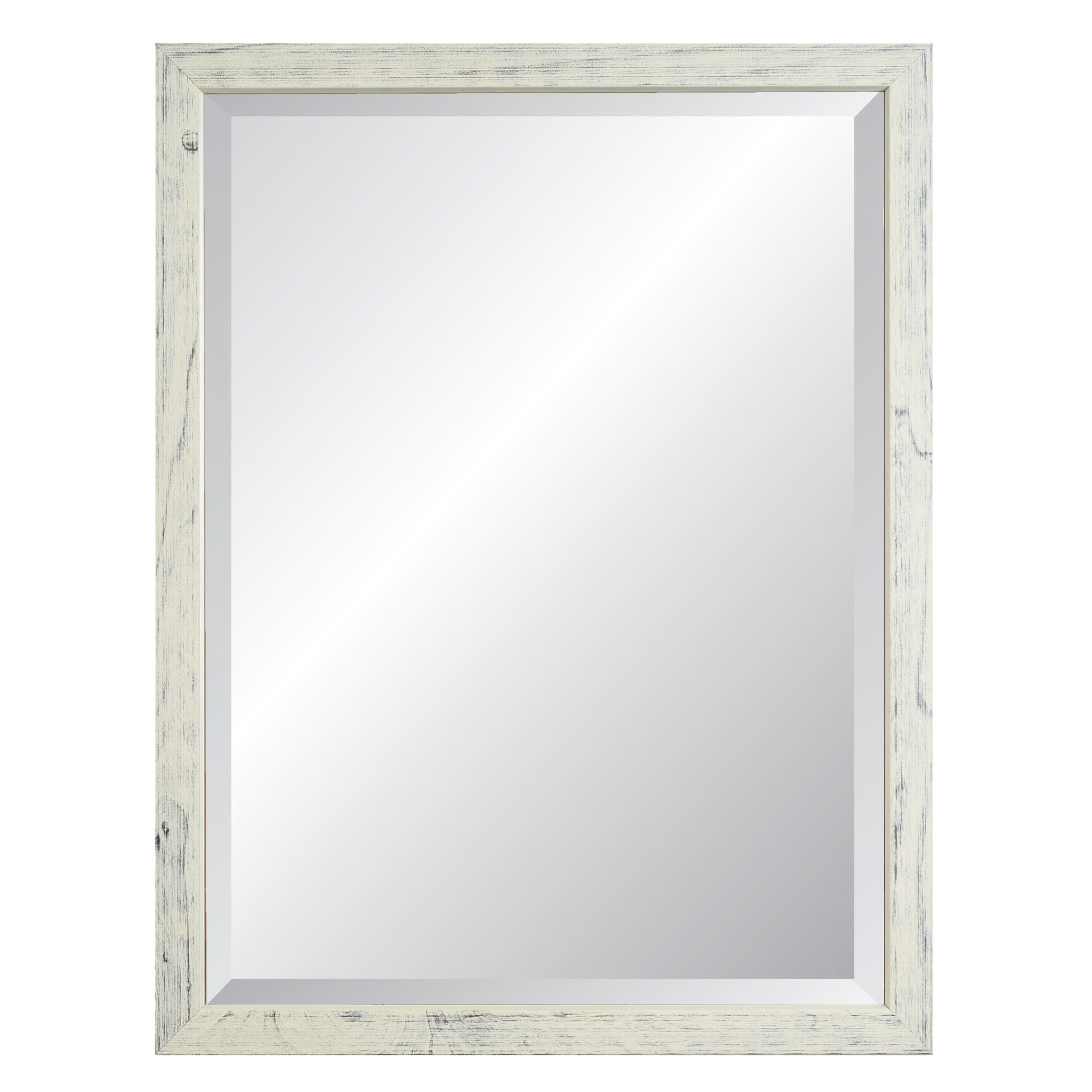 Nantucket Weathered White Framed Wall Mirror
