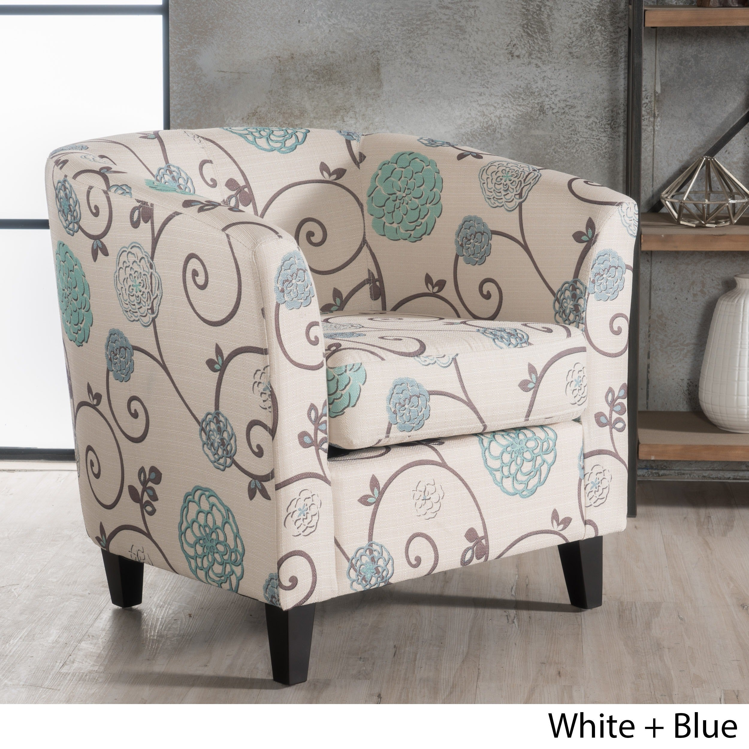 Attractive Shop Preston Floral Fabric Club Chair By Christopher Knight Home   Free  Shipping Today   Overstock.com   14518502