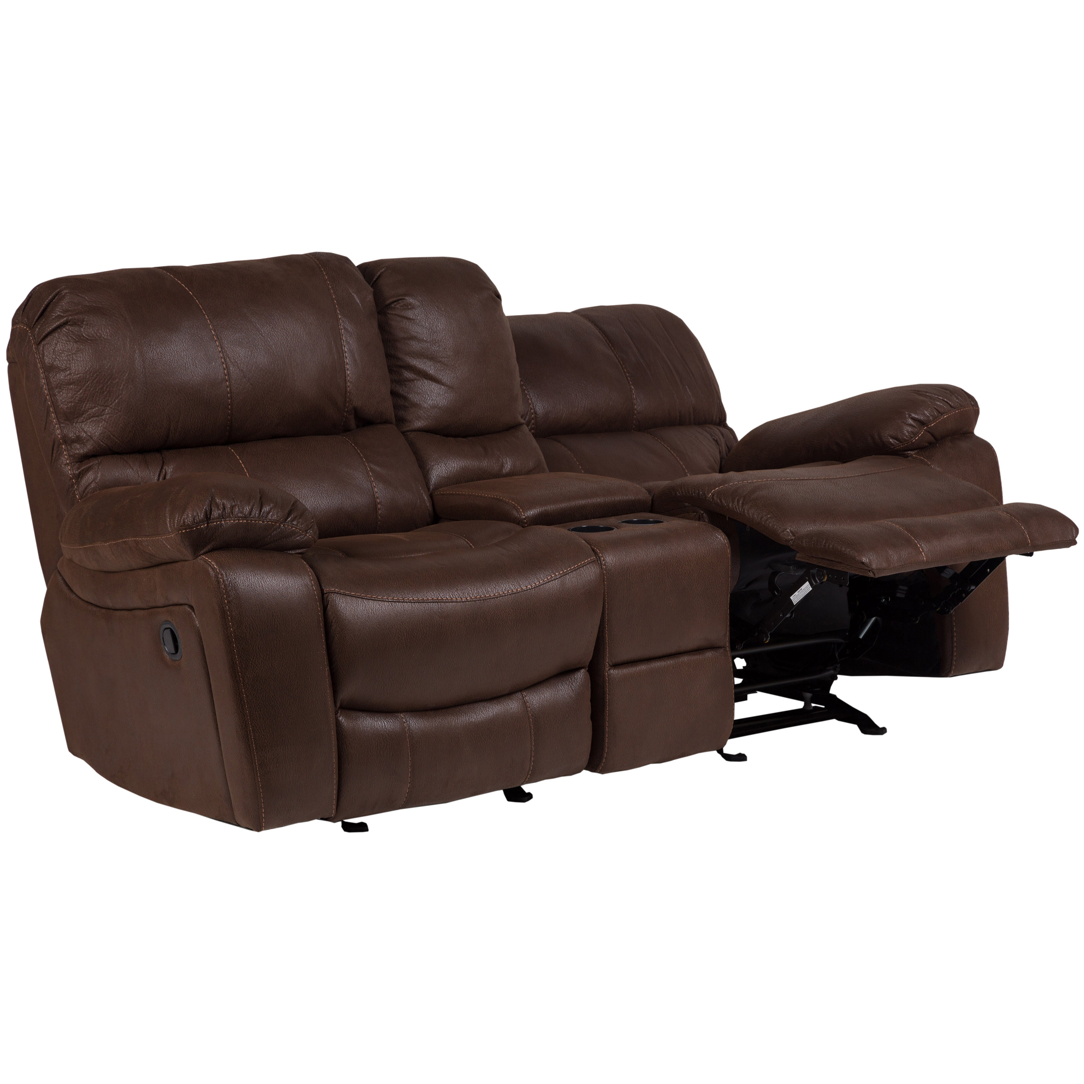 loveseat massage power com center with reclining spotthevuln console