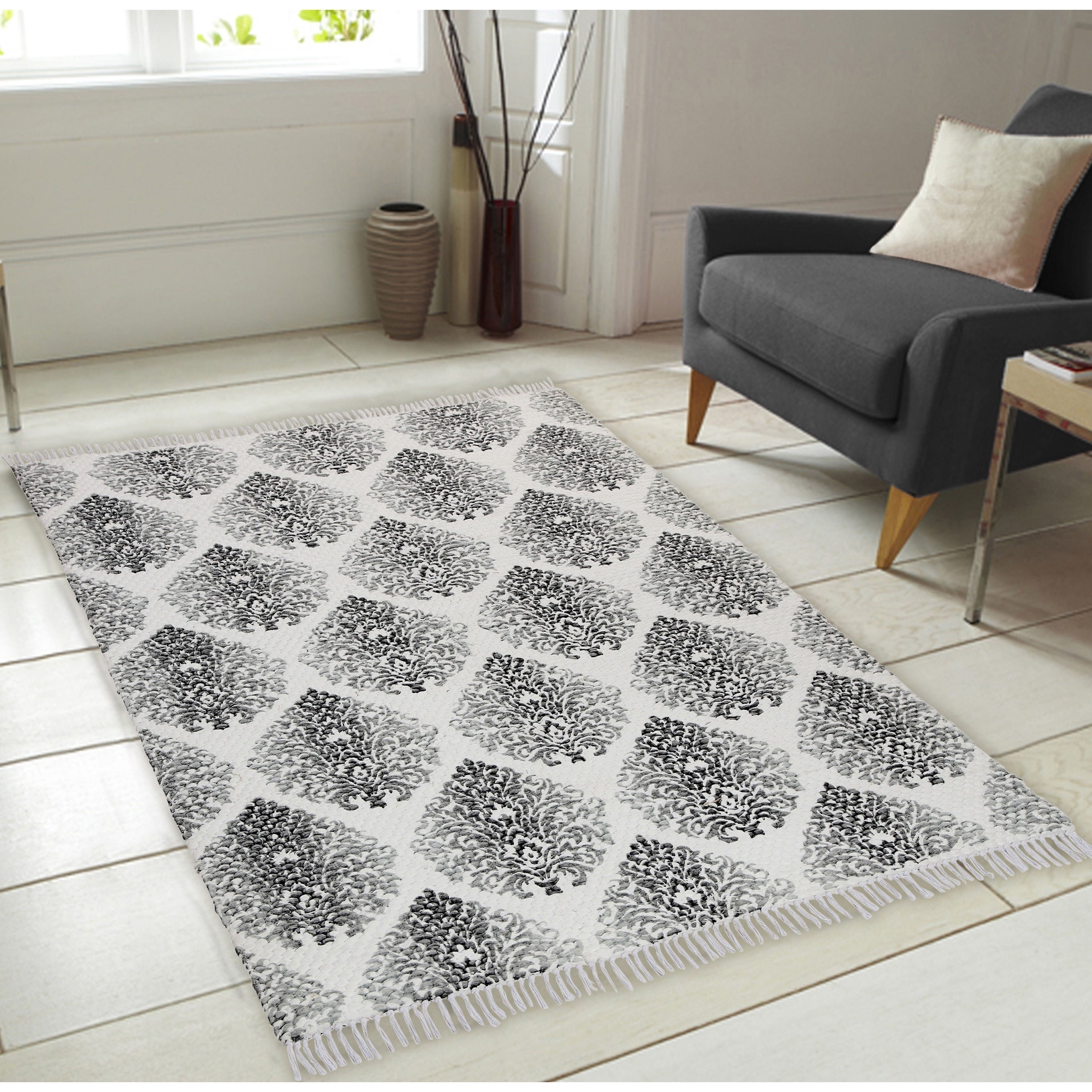 Shop Printed Pattern Hand Woven Vintage Area Rug