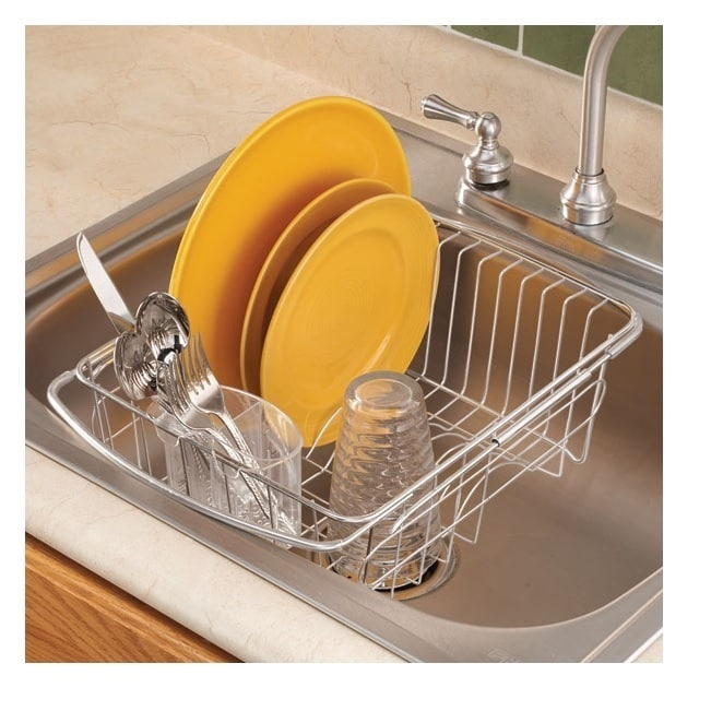 Merveilleux Shop Adjustable Over The Sink Dish Drainer   Free Shipping On Orders Over  $45   Overstock.com   14523154