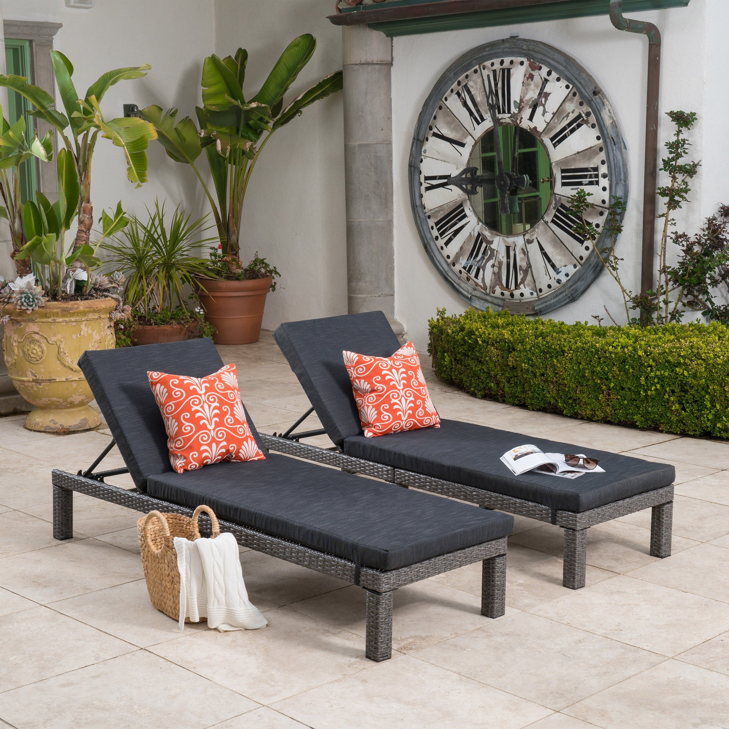 Puerta Outdoor 13 piece Wicker Patio Set with Cushions by