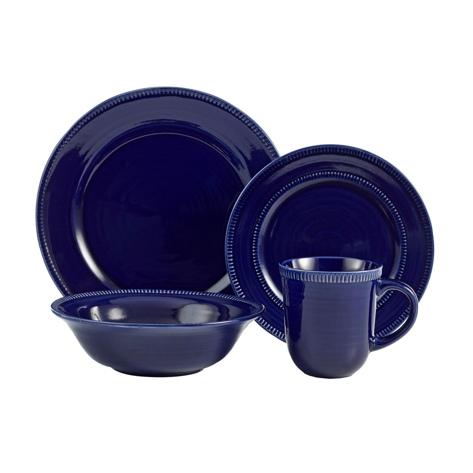 American Atelier Indigo 16-piece Dinnerware Set - Free Shipping Today - Overstock - 21077241  sc 1 st  Overstock.com & American Atelier Indigo 16-piece Dinnerware Set - Free Shipping ...