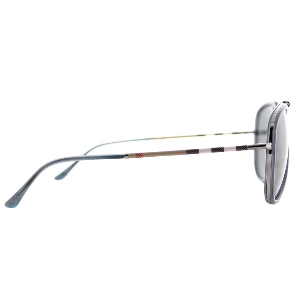 63eb89e8152 Shop Burberry BE 3090Q 100887 Blue Havana Brushed Gunmetal Metal Aviator Sunglasses  Grey Lens - Free Shipping Today - Overstock - 14530001