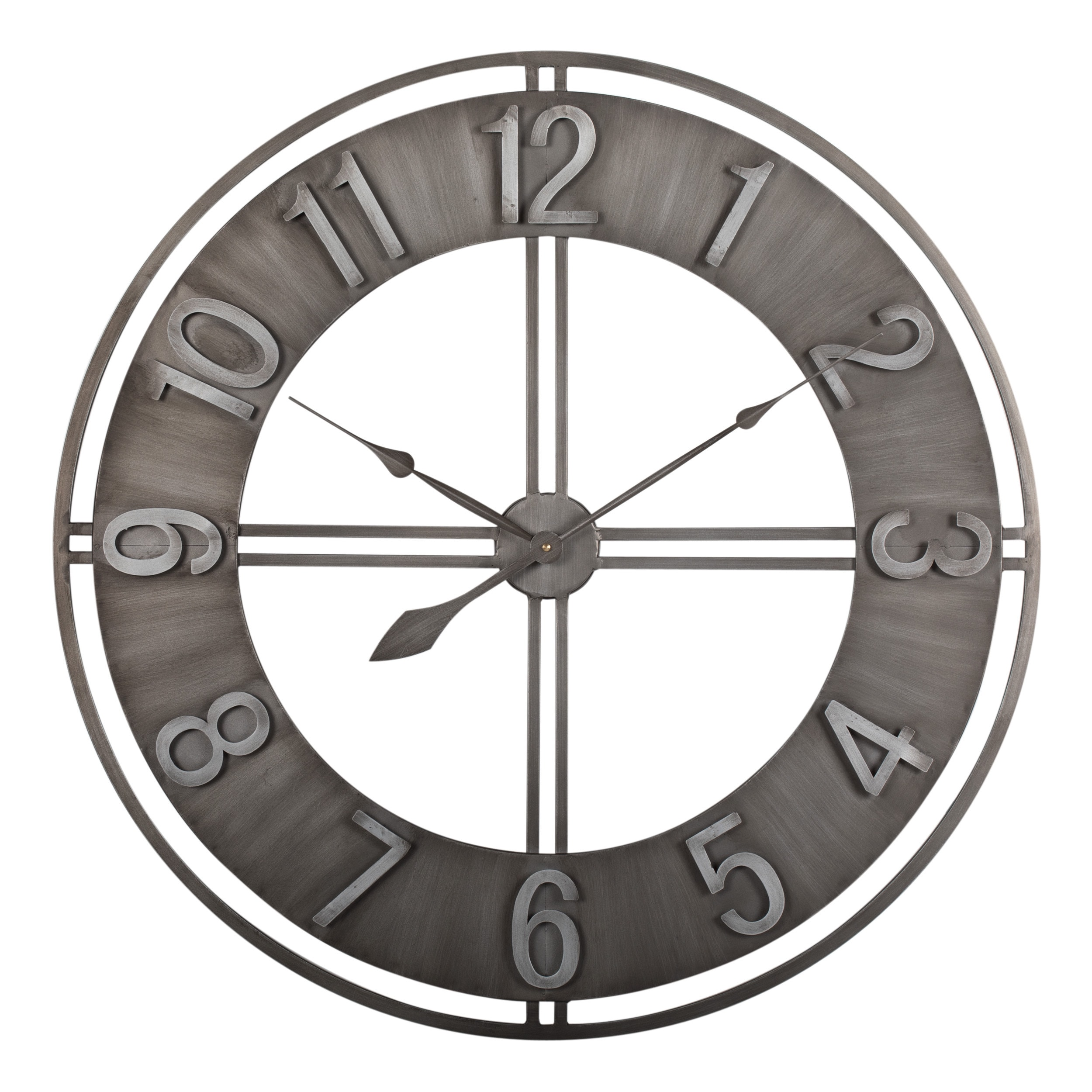 30 wall clock rustic shop carbon loft maunchly metal 30inch industrial wall clock on sale free shipping today overstockcom 22801466