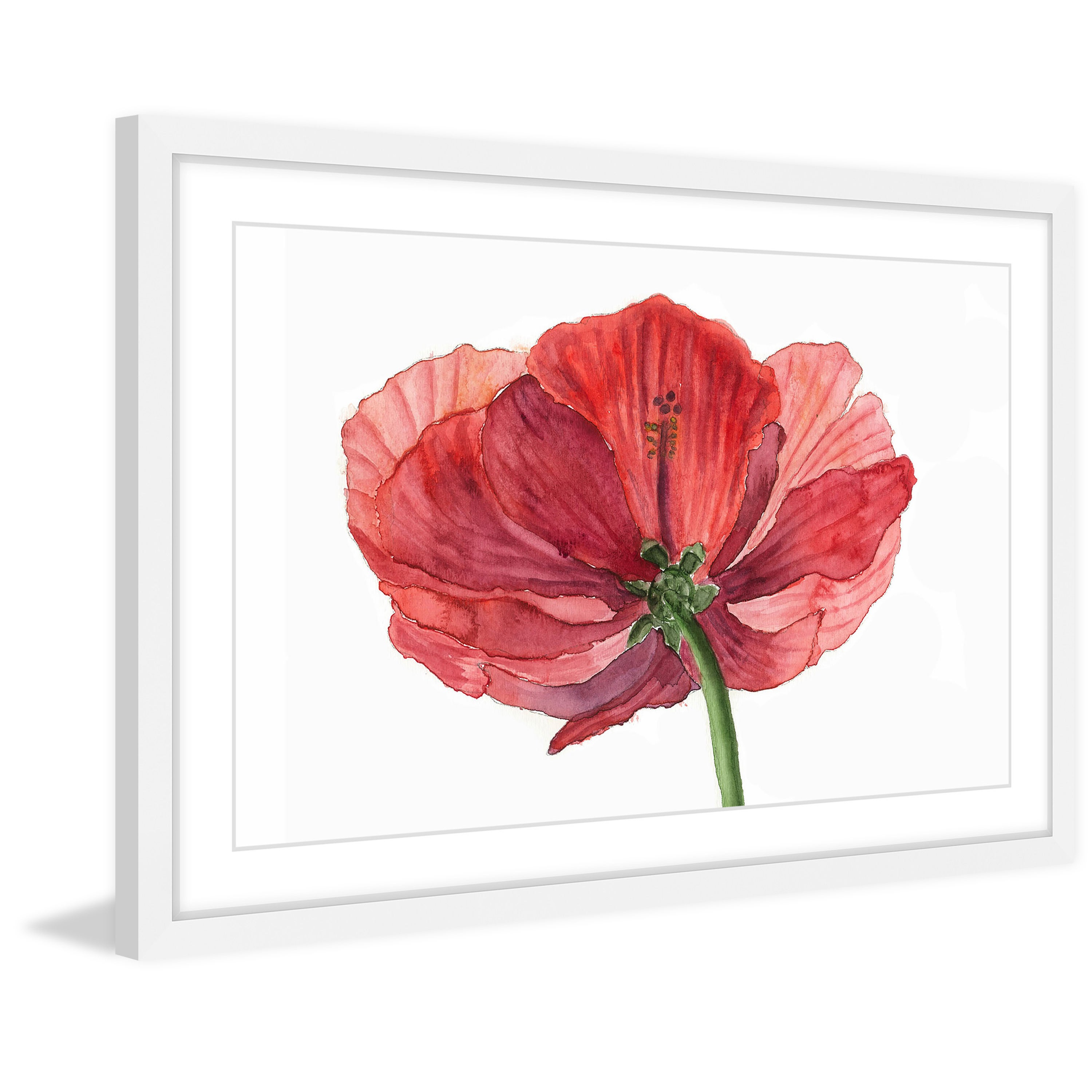 Shop Hibiscus Flower Framed Painting Print On Sale Free
