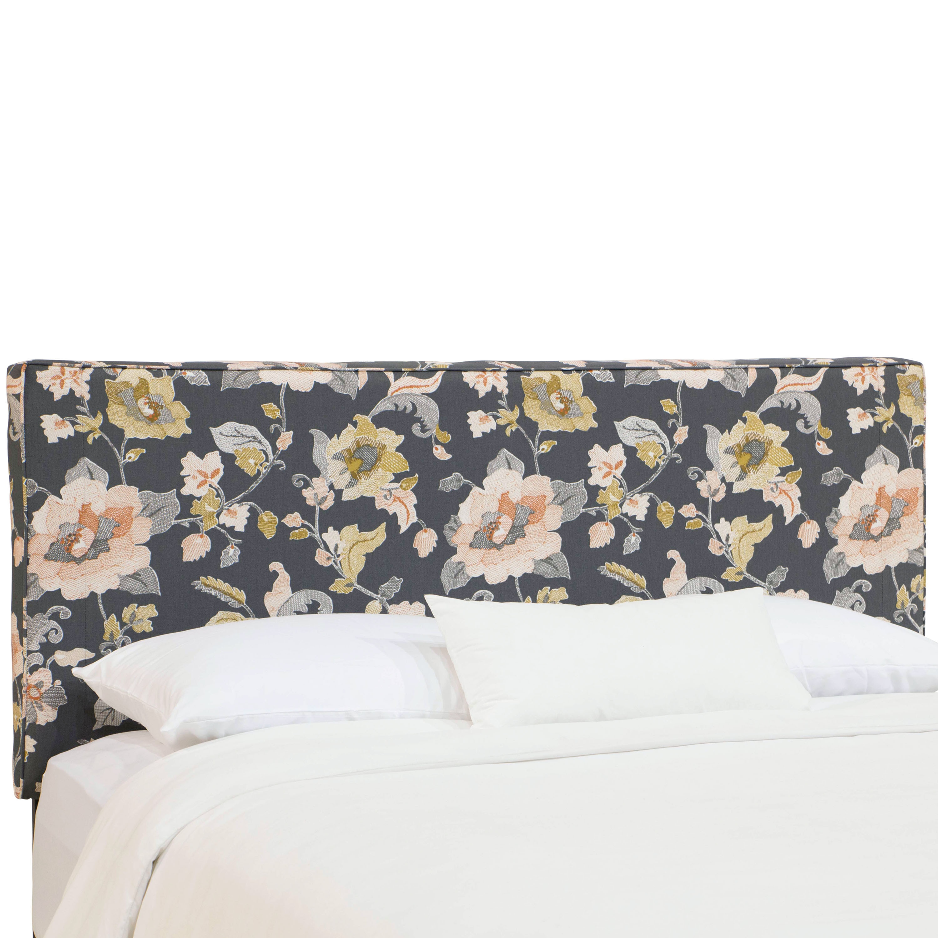 nail product cfm skyline nailbuttonwingbackupholsteredlowprofilebed linen button options headboard furniture linentalc upholstered hayneedle bed wingback