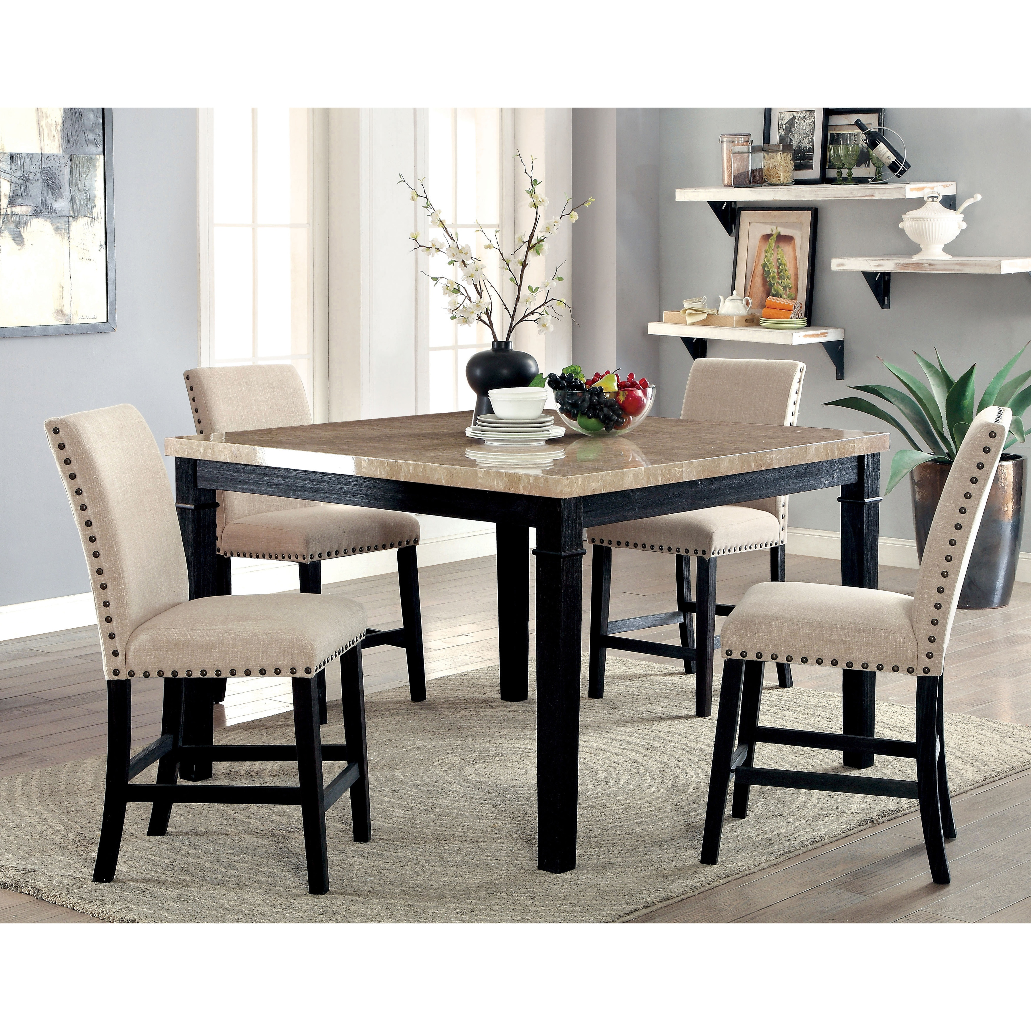 Furniture Of America Denilia Contemporary Ivory Fabric Parson Counter  Height Chairs (Set Of 2)   Free Shipping Today   Overstock.com   21090894