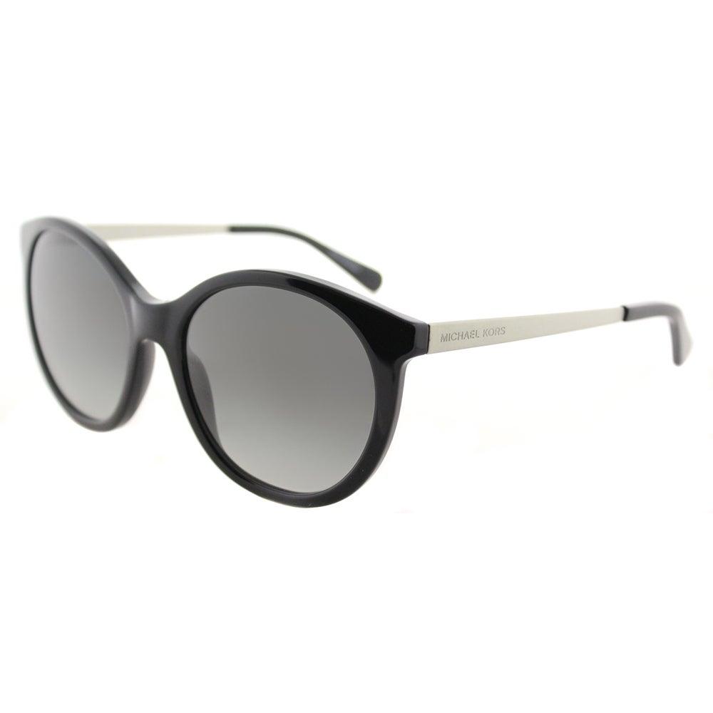 4831ef0c57 Shop Michael Kors MK 2034 320411 Island Tropics Black Plastic Round Sunglasses  Dark Grey Gradient Lens - Free Shipping Today - Overstock - 14540189