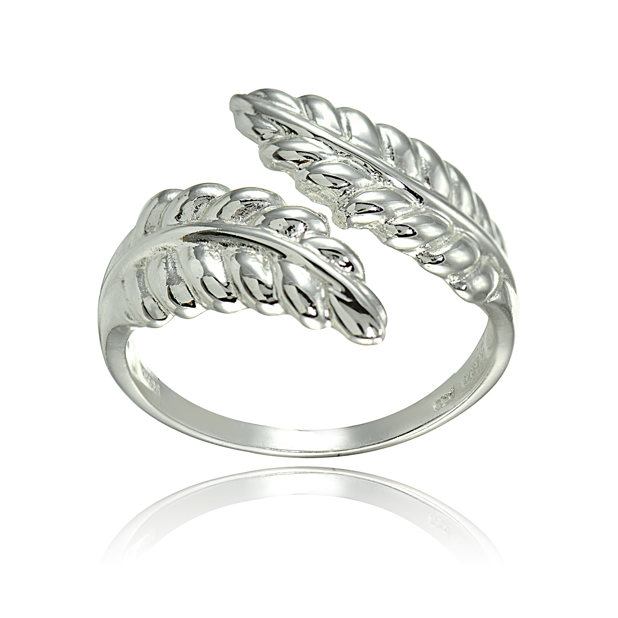 shop mondevio sterling silver high polished leaf wrap ring free Leaf Bracelet shop mondevio sterling silver high polished leaf wrap ring free shipping on orders over 45 overstock 14542727
