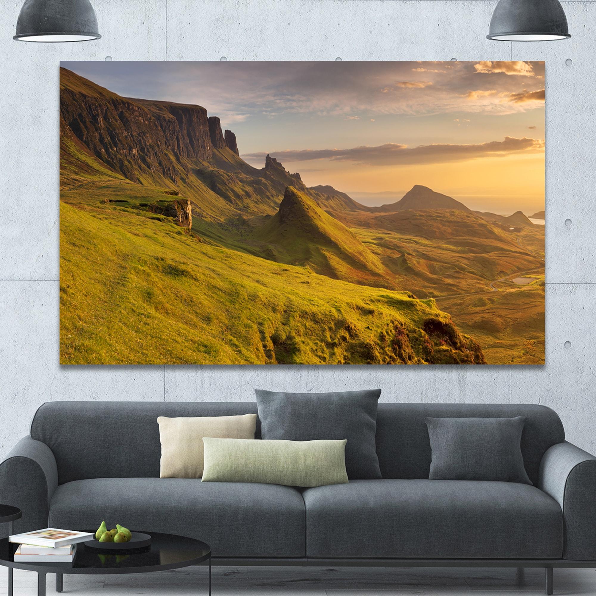 Designart \'Sunrise at Quiraing Scotland\' Landscape Wall Art on ...