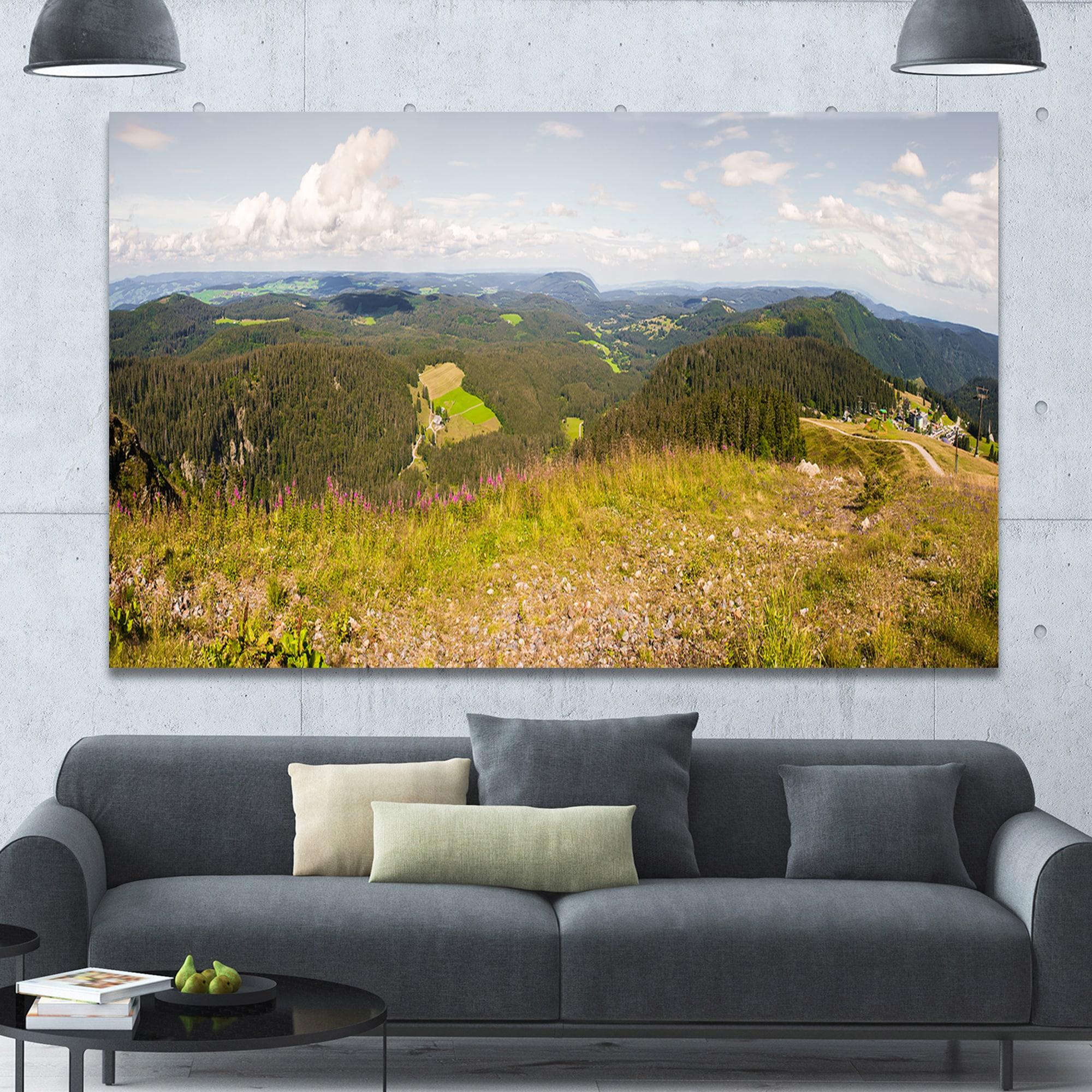 Shop Designart \'Black Forest Germany Panorama\' Landscape Wall ...