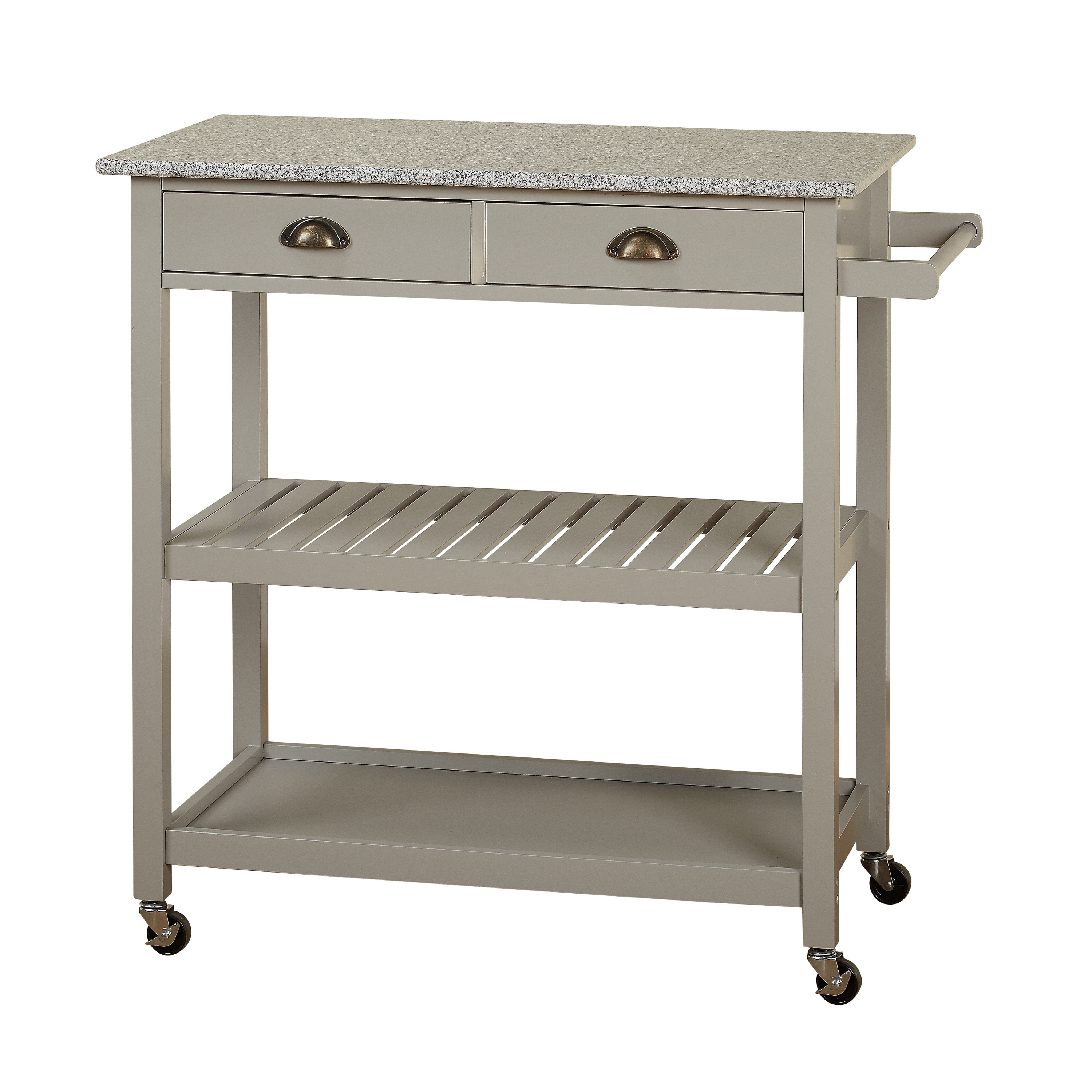 Shop simple living oregon 2 drawer rolling kitchen island on sale free shipping today overstock com 14545425