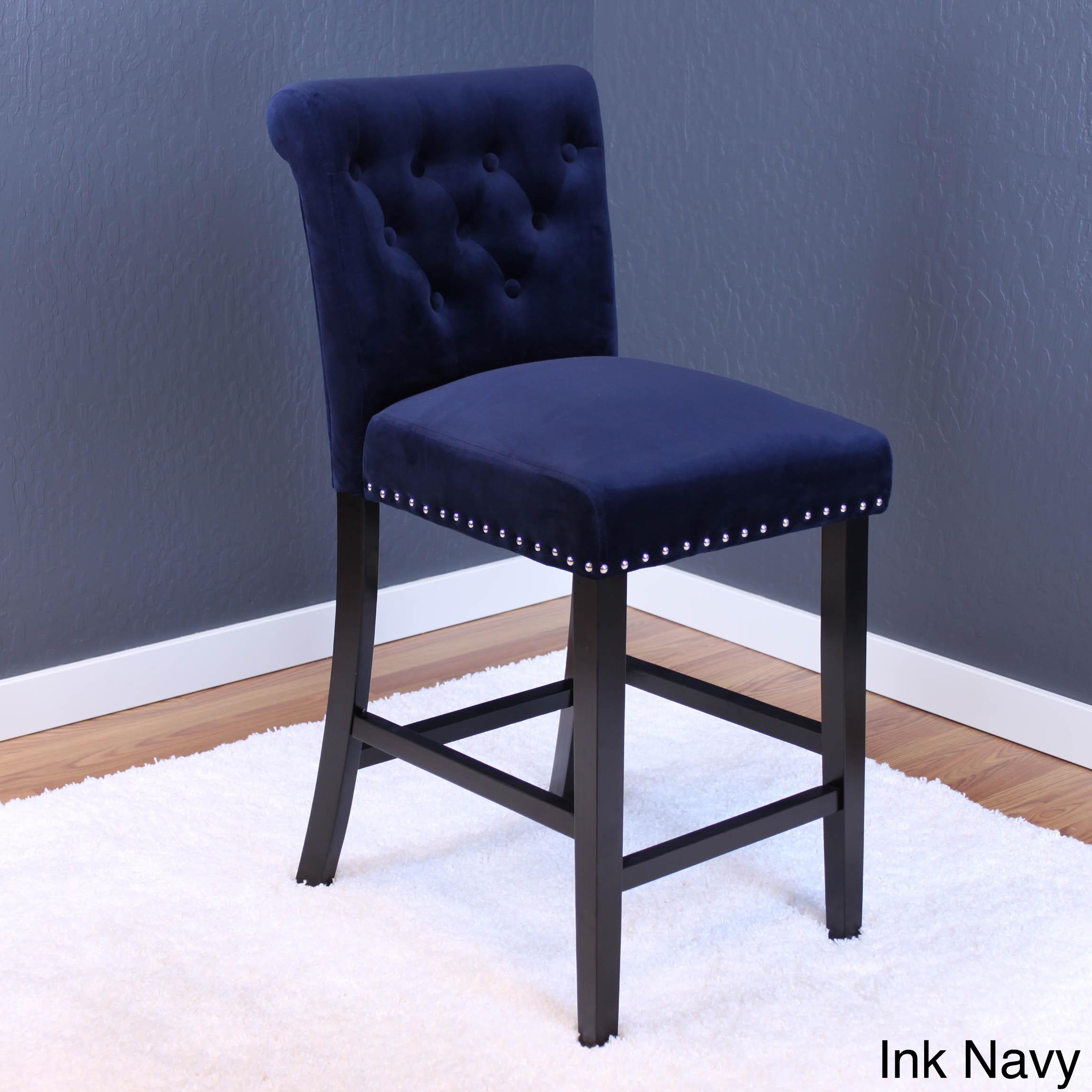 Monsoon Markelo Tufted Velvet Counter Chairs (Set Of 2)